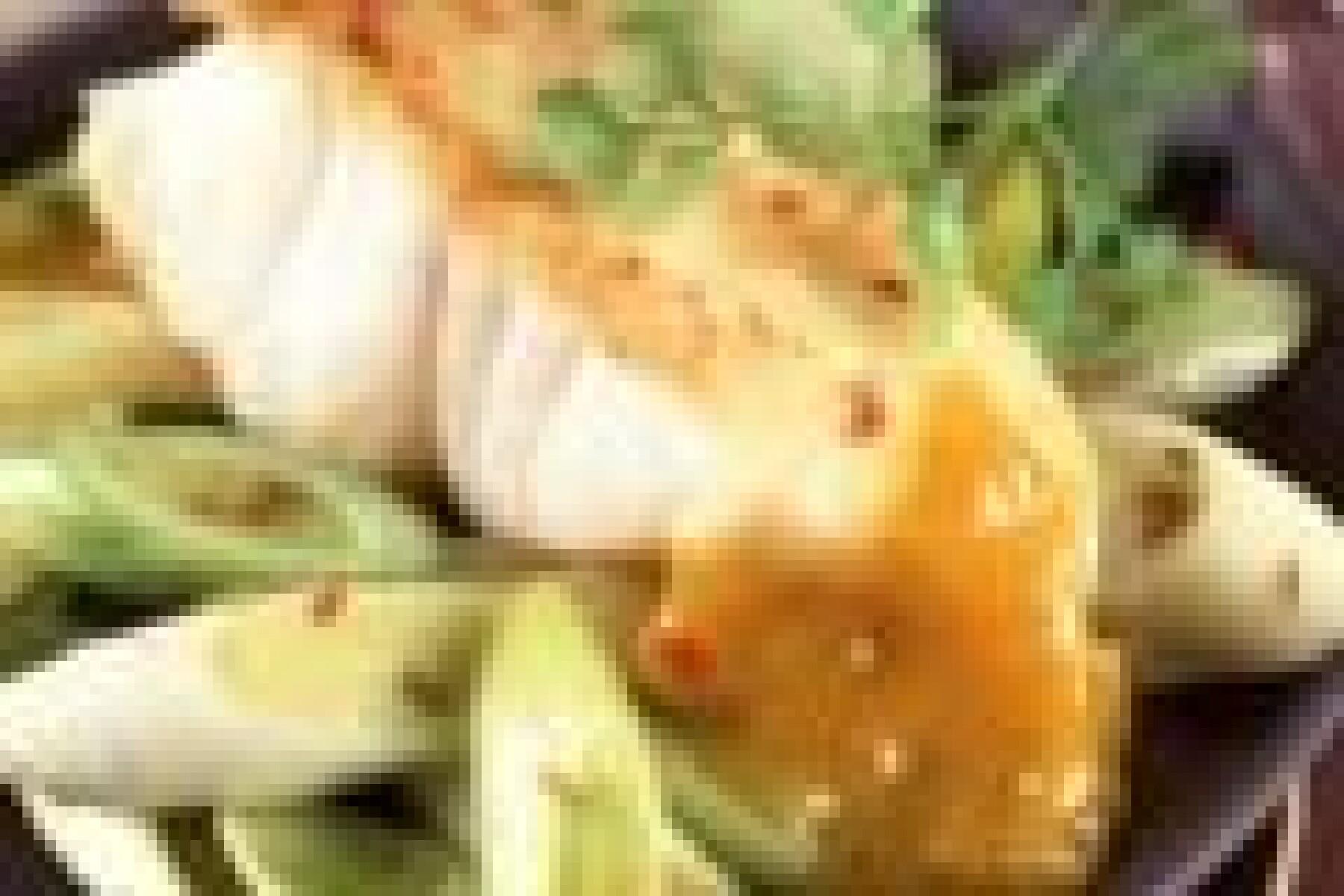 Cabillaud à la fondue de poireaux