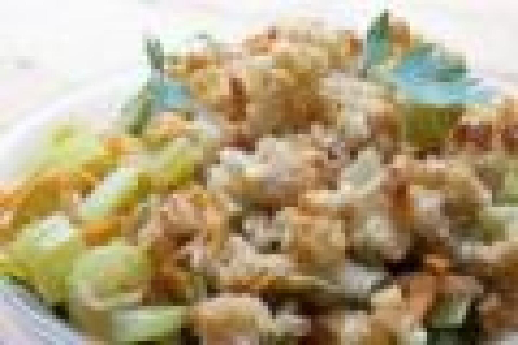Crumble de poireau et céleri
