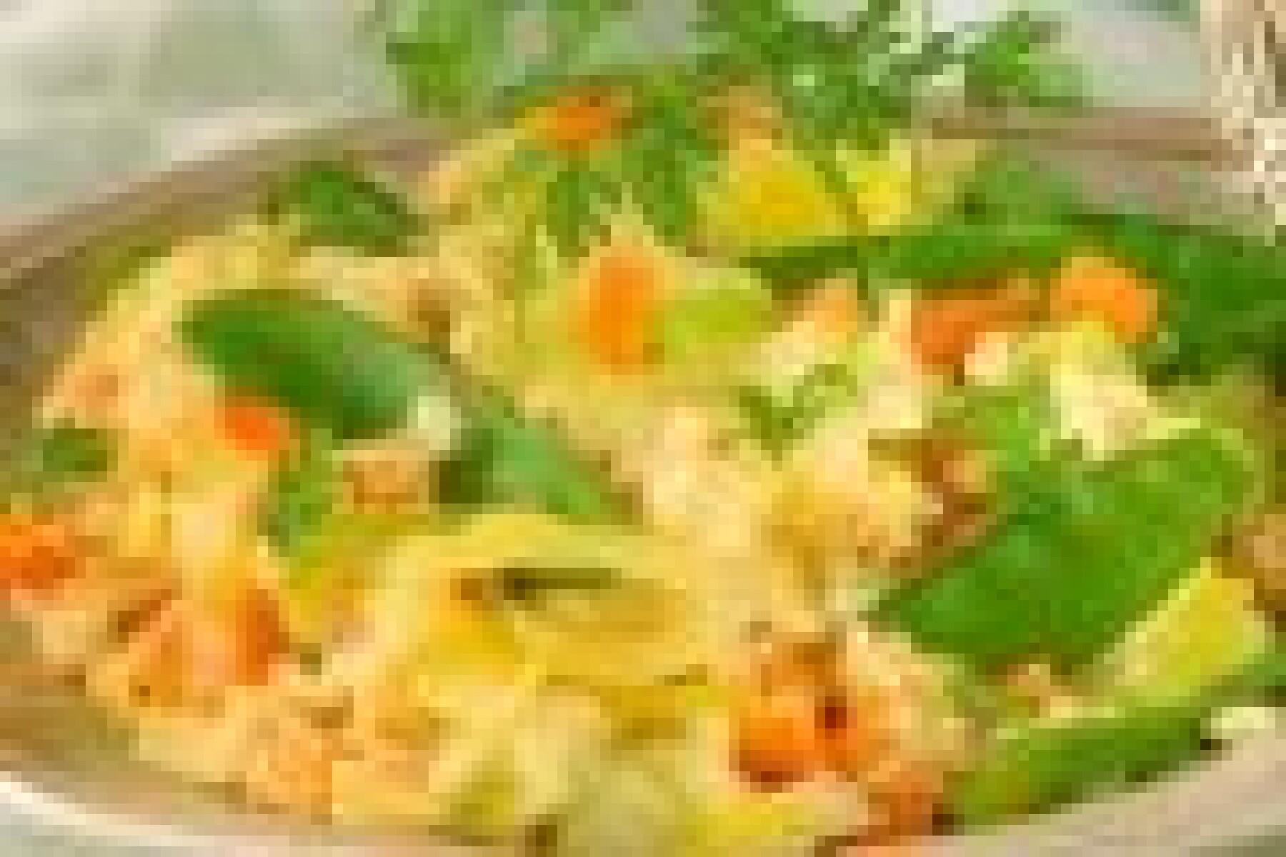Risotto poireaux, carottes et pois gourmands