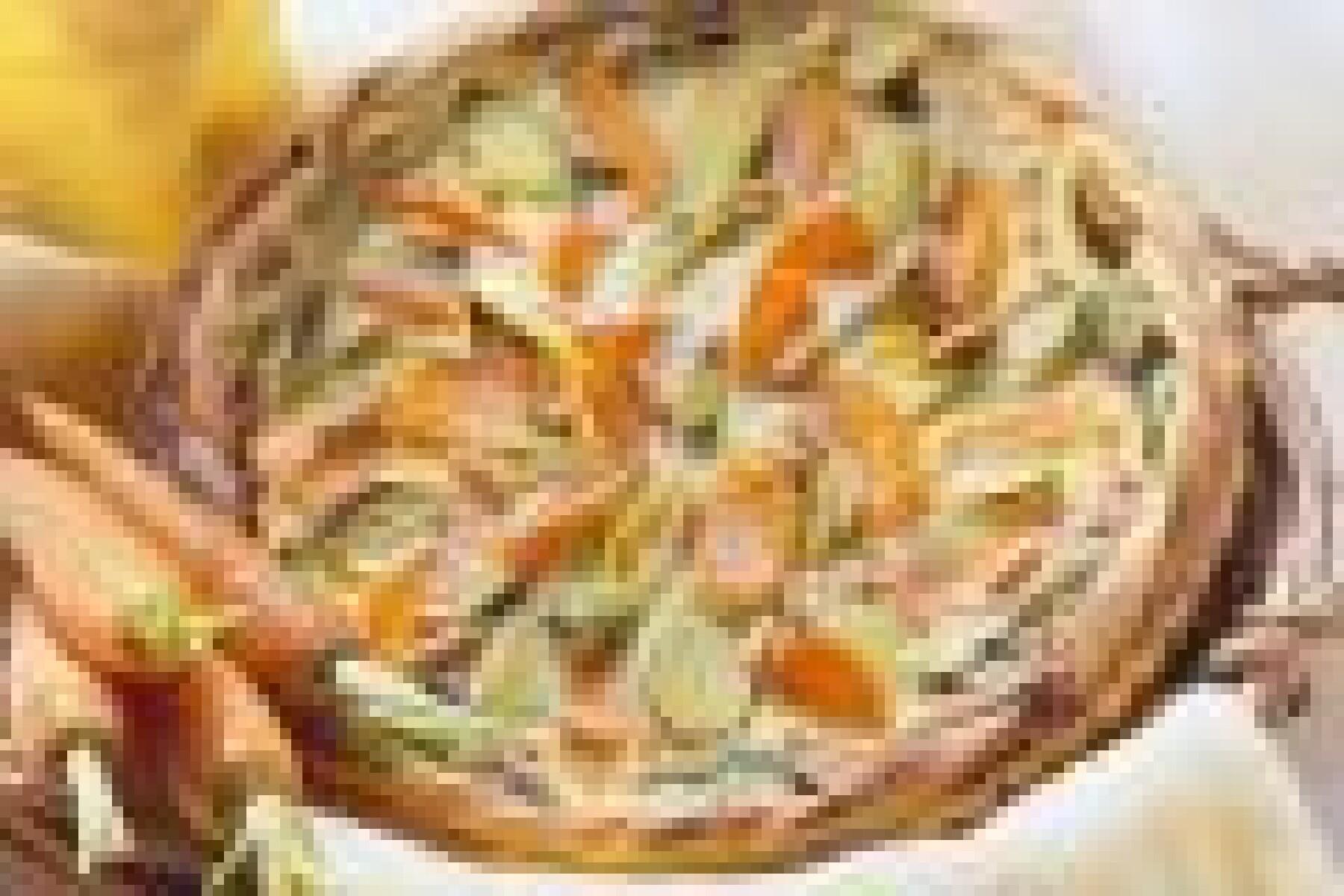 Tarte aux poireaux et carottes