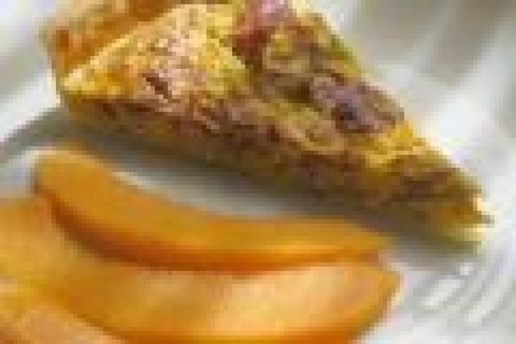 Tarte au jambon et poireaux