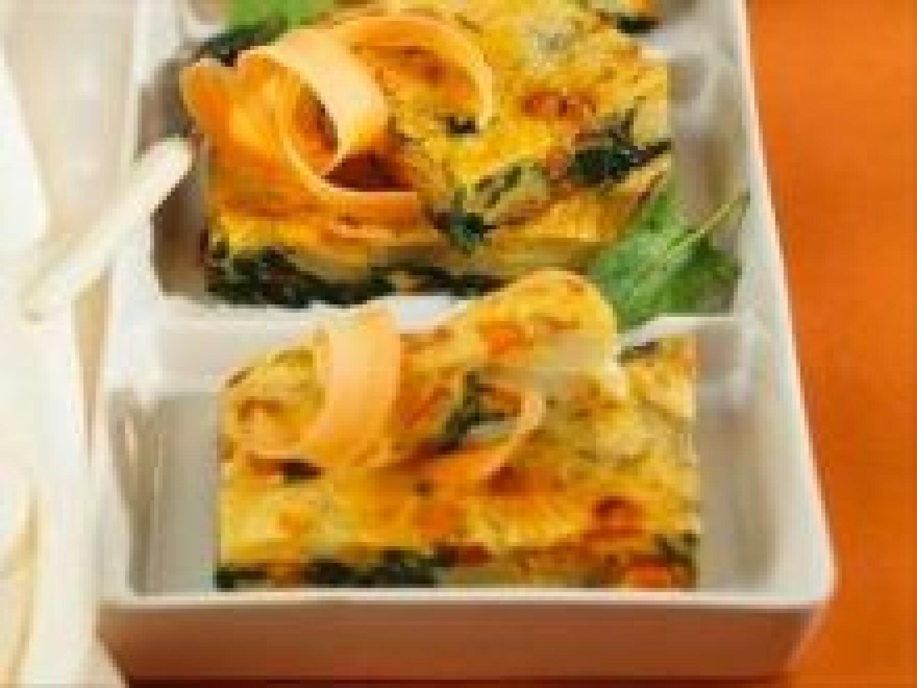 Tortilla aux carottes et aux épinards
