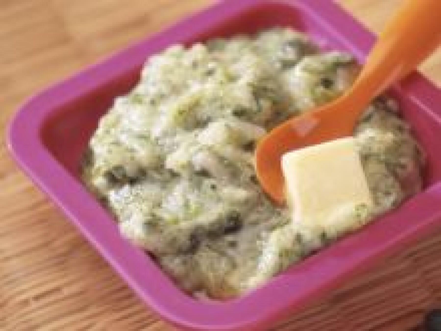 Purée verte riz-mâche