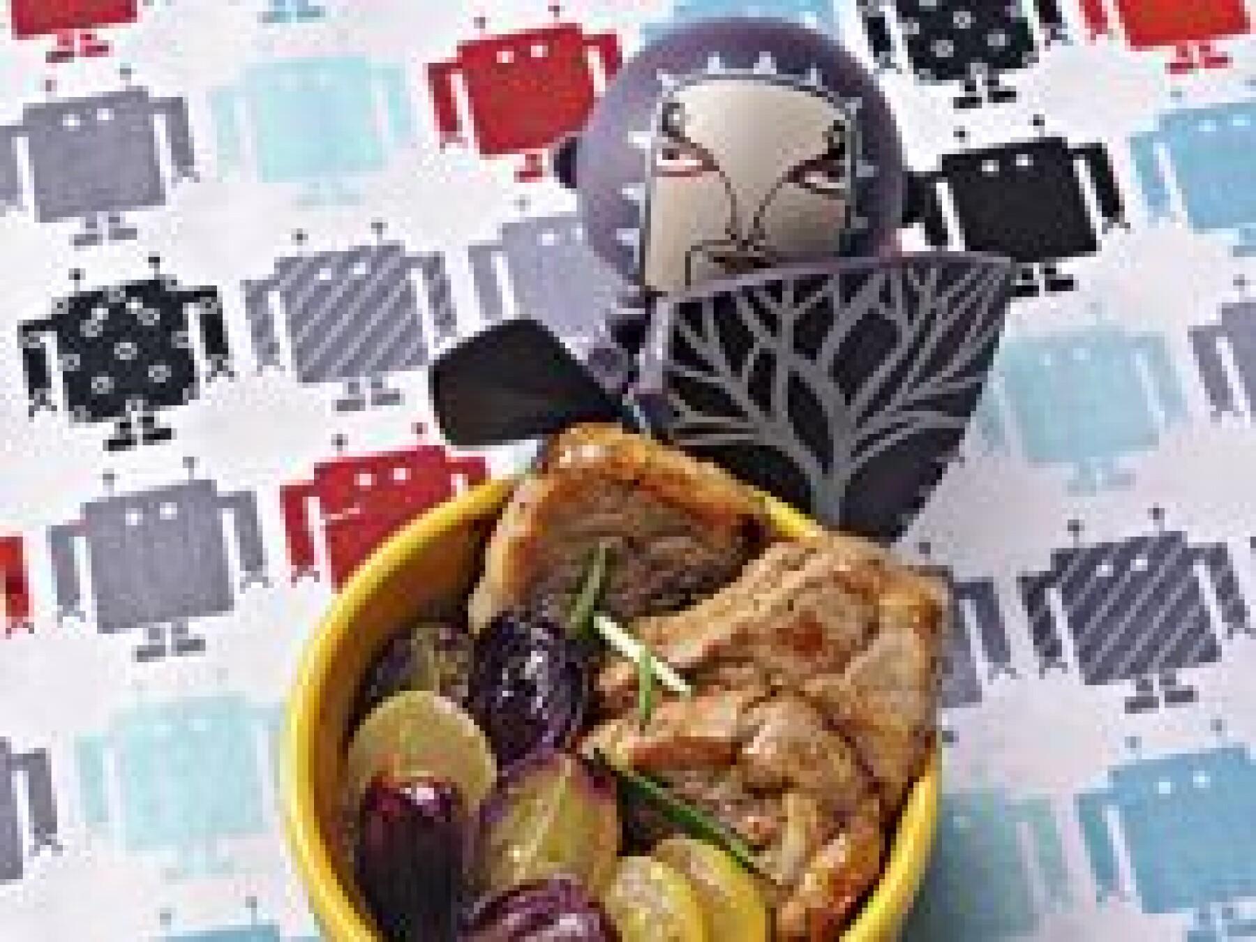 Porc aux raisins rôtis