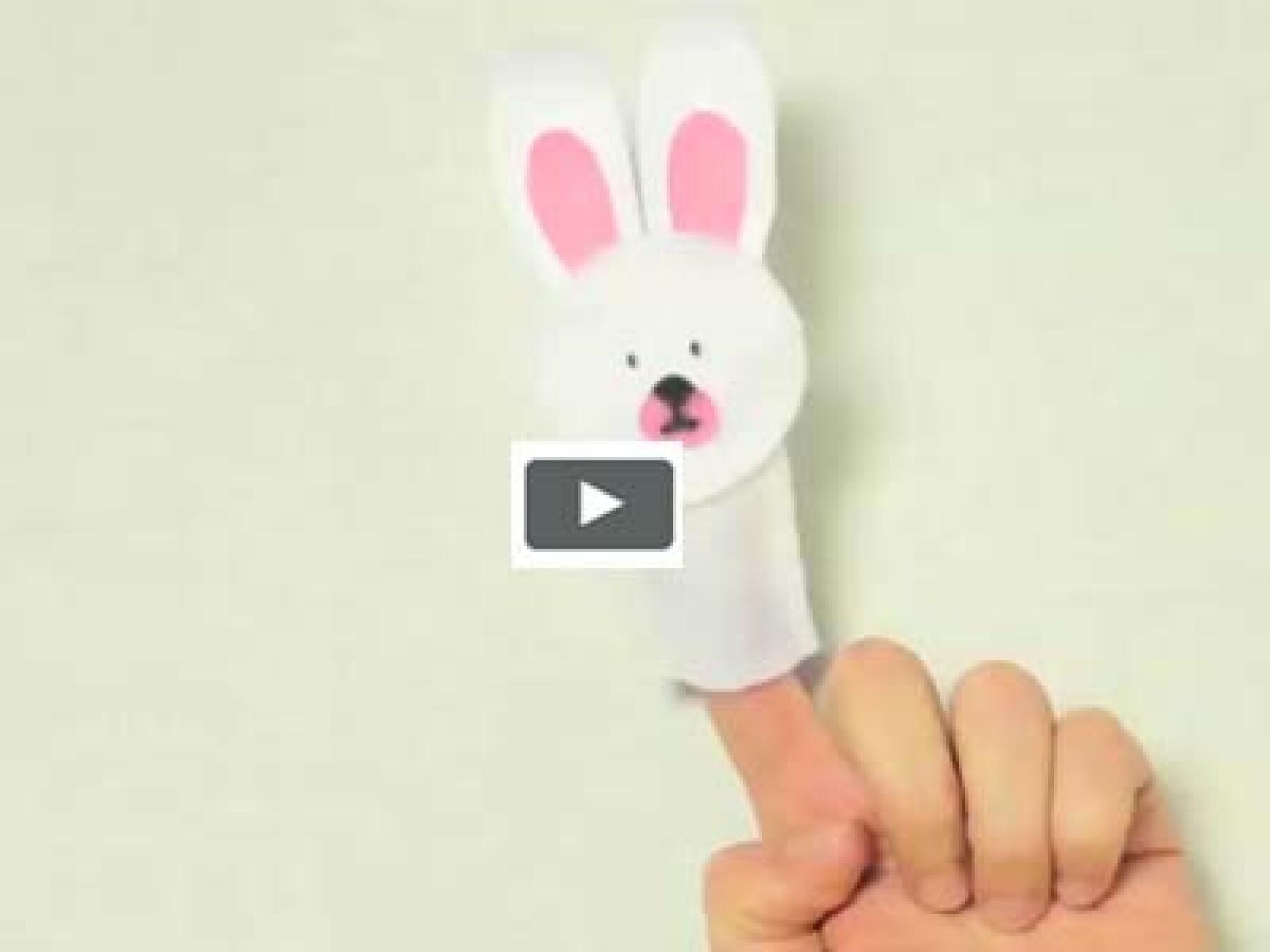 vidéo bricolage marionnette à doigt lapin