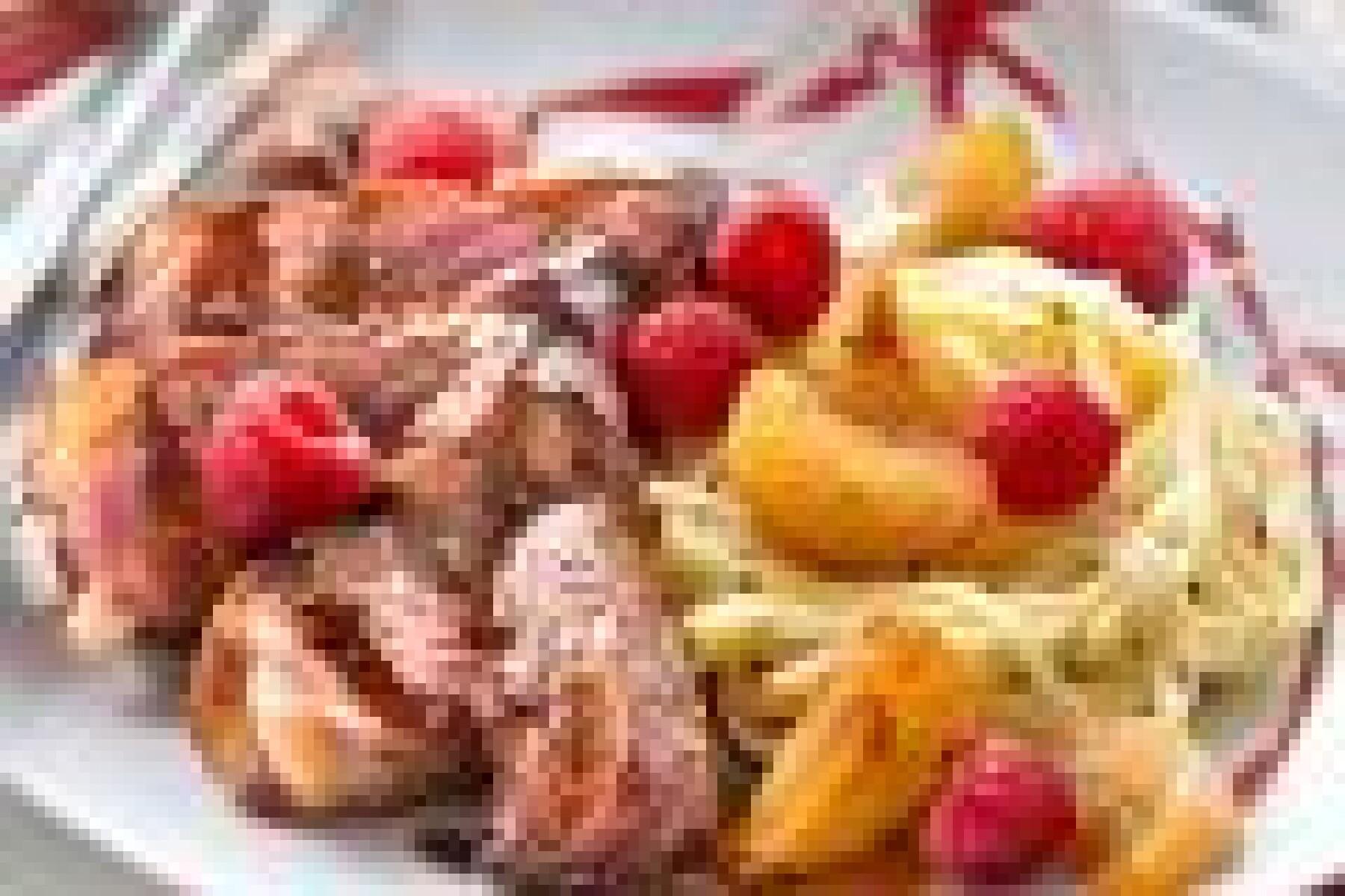 Canard sauce soja-framboises