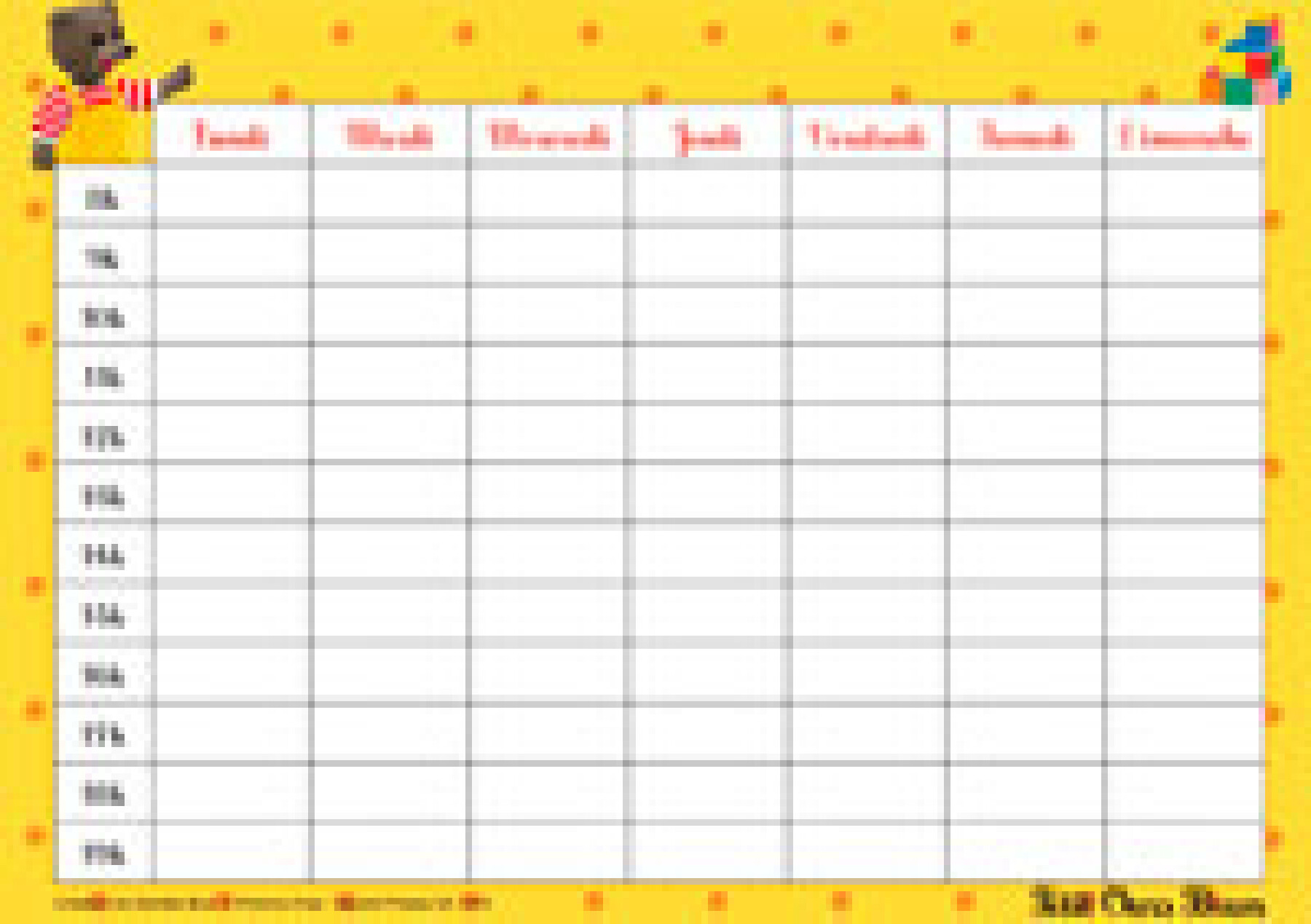 calendrier scolaire ours brun