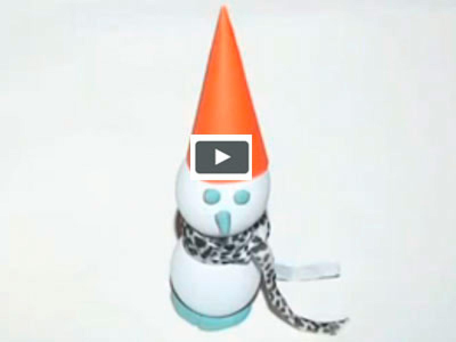 vidéo bricolage bonhomme de neige