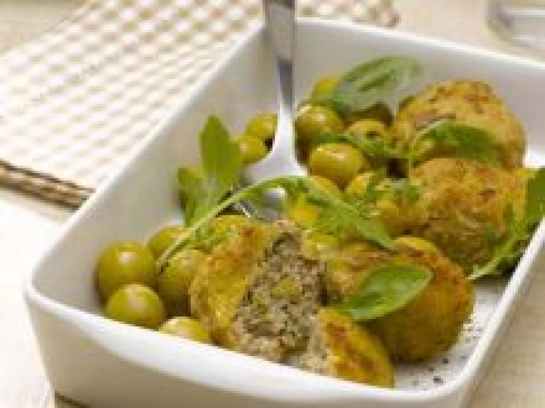 Croquettes de veau aux olives vertes