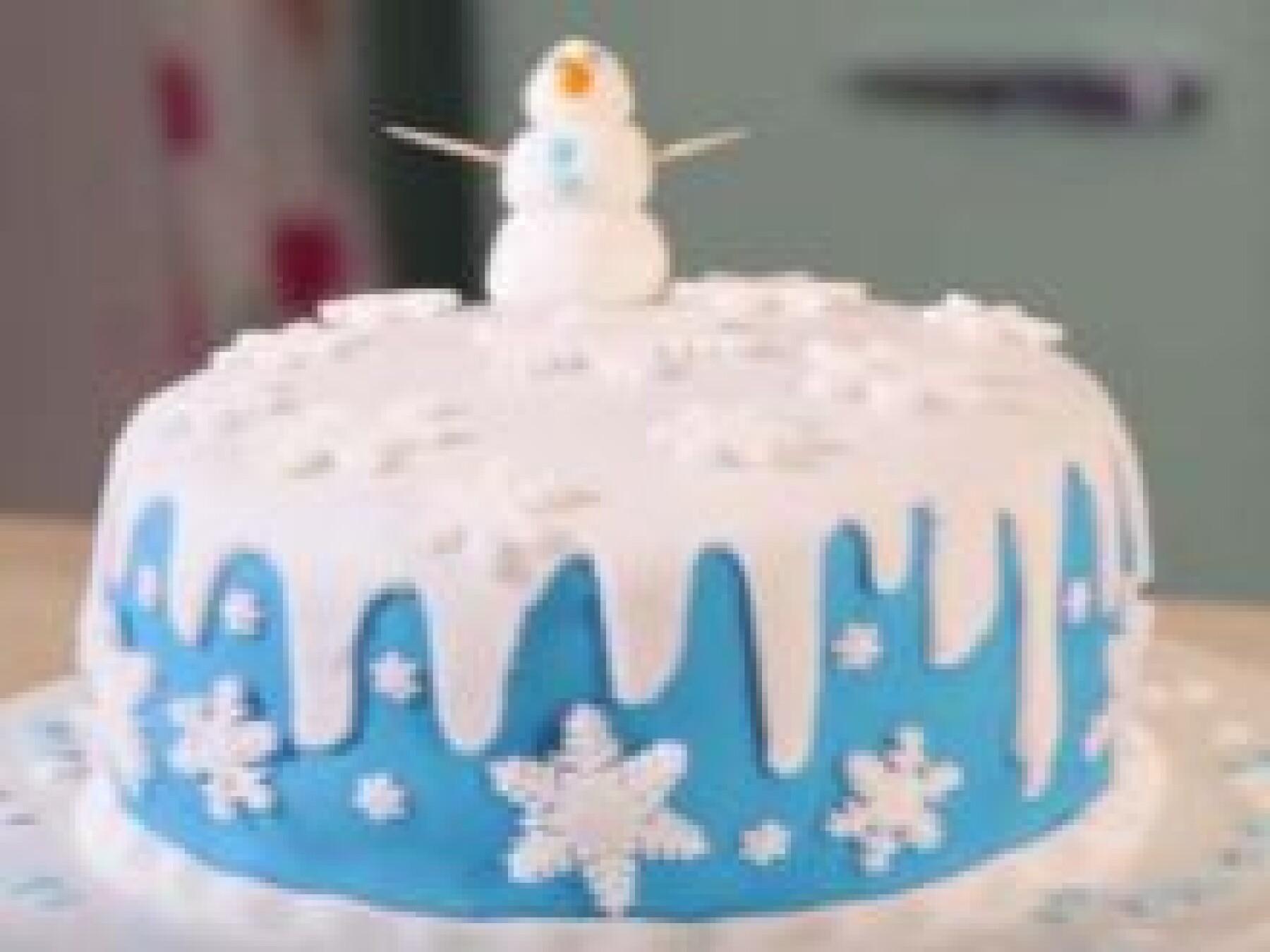 Le gâteau Reine des neiges