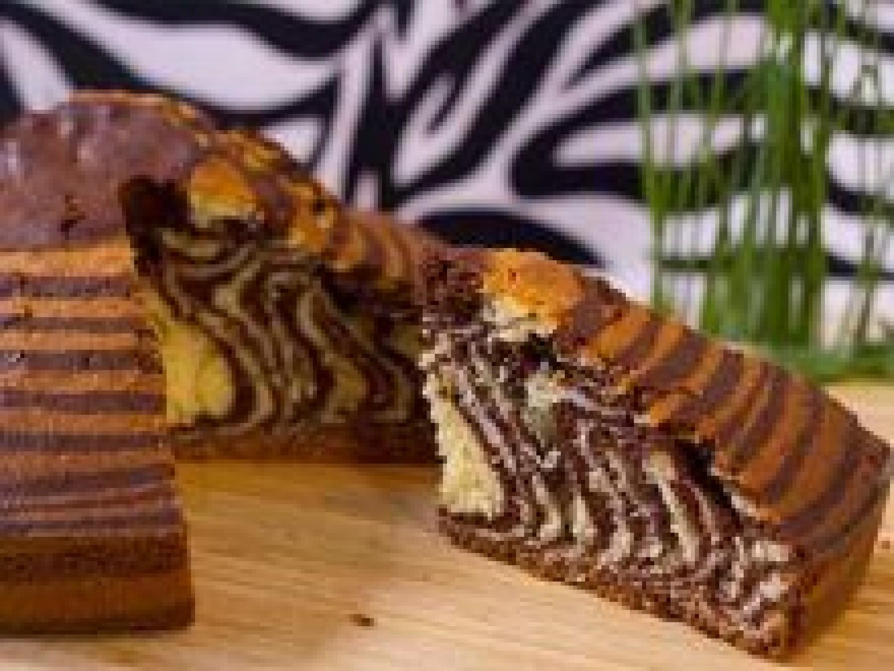 Le gâteau zèbre