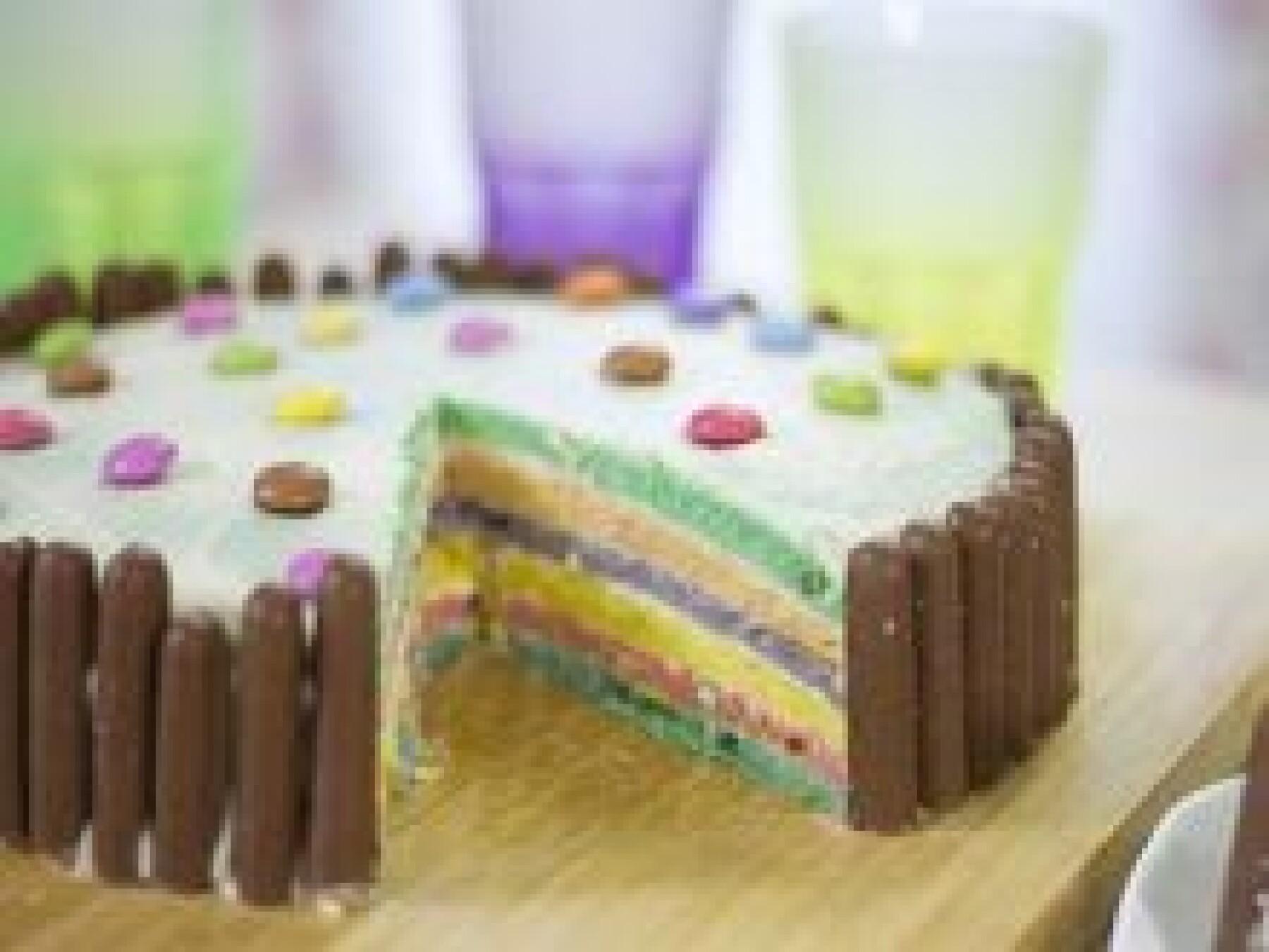 Le rainbow cake