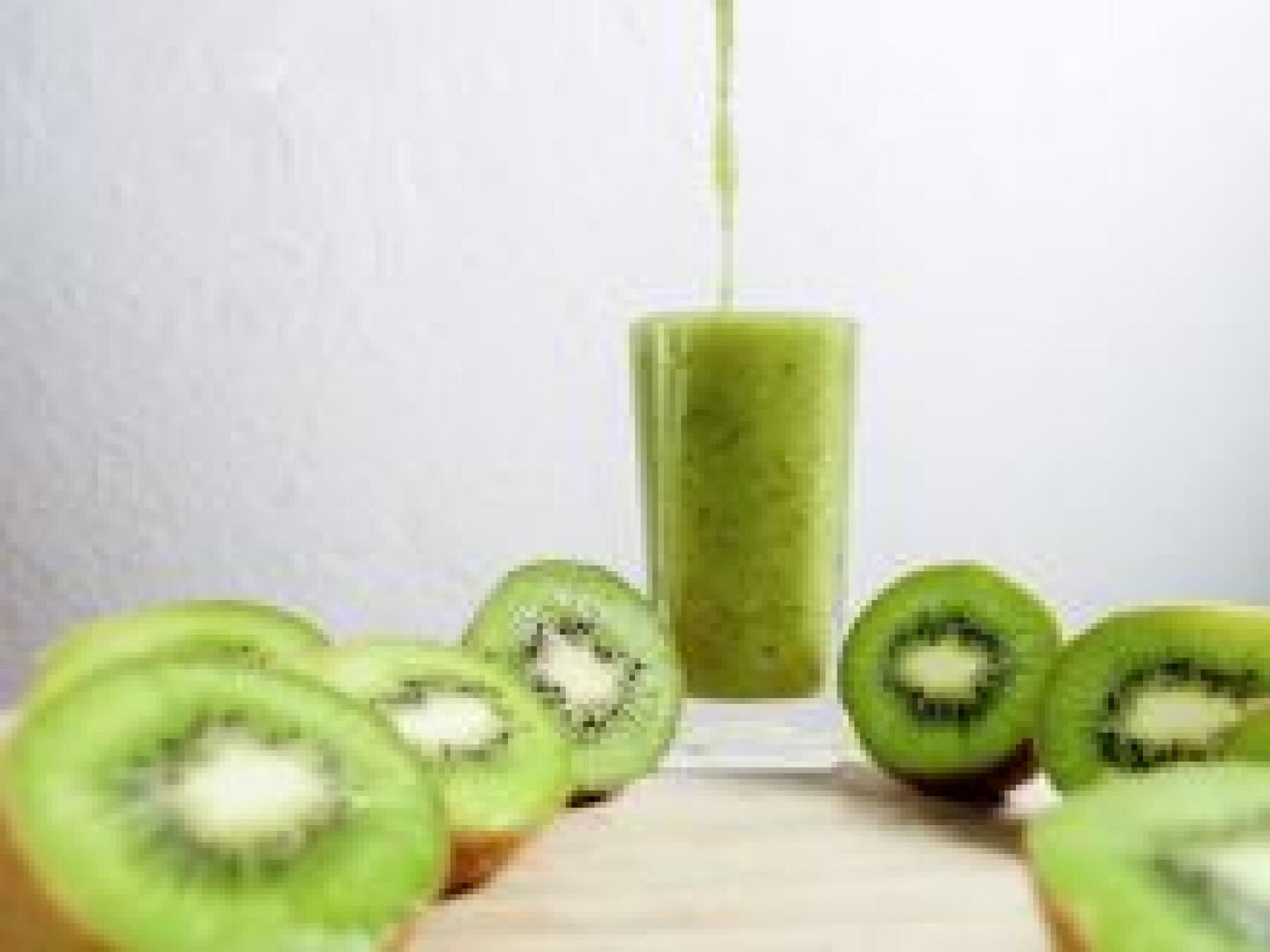 Smoothie kiwi-melon-poire