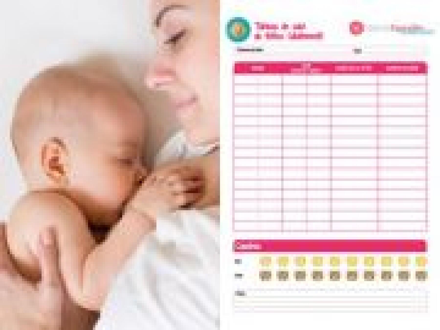 tableau suivi allaitement bébé