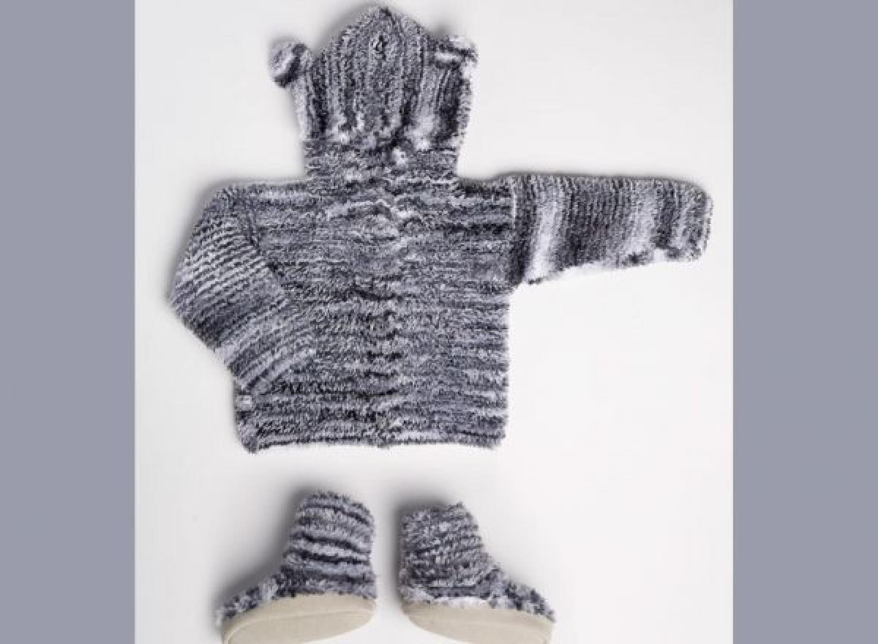 Manteau et chaussons ourson