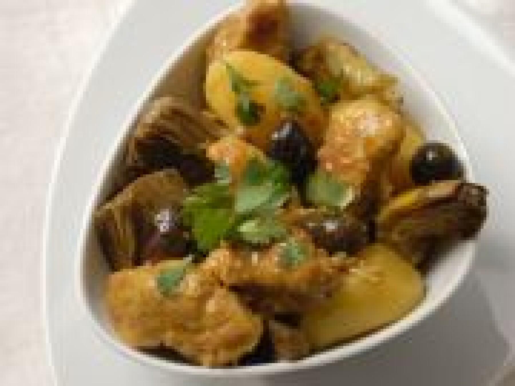 Veau aux artichauts et aux olives