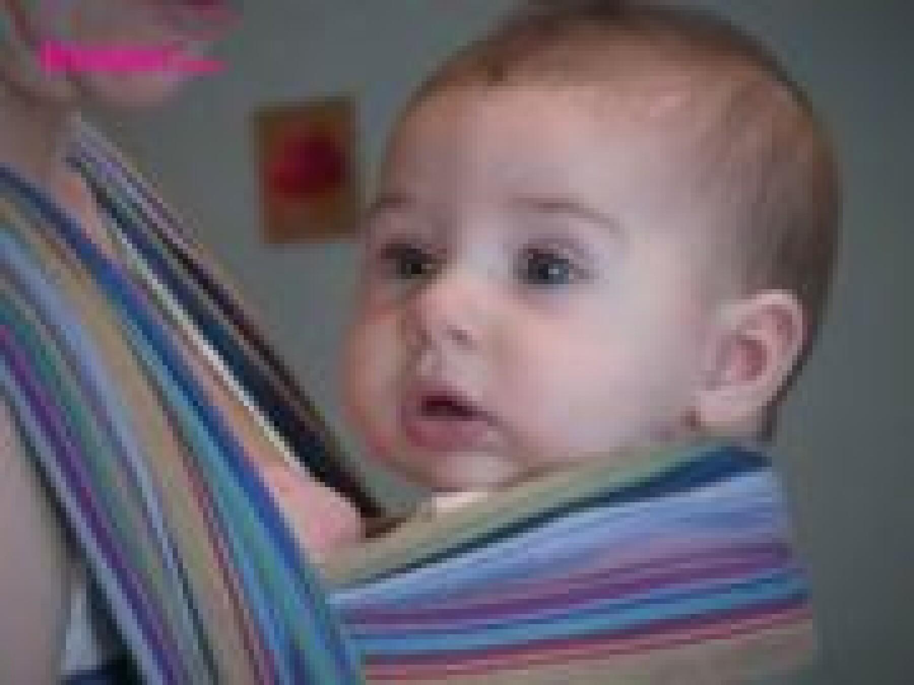 vidéos porter bébé en écharpe