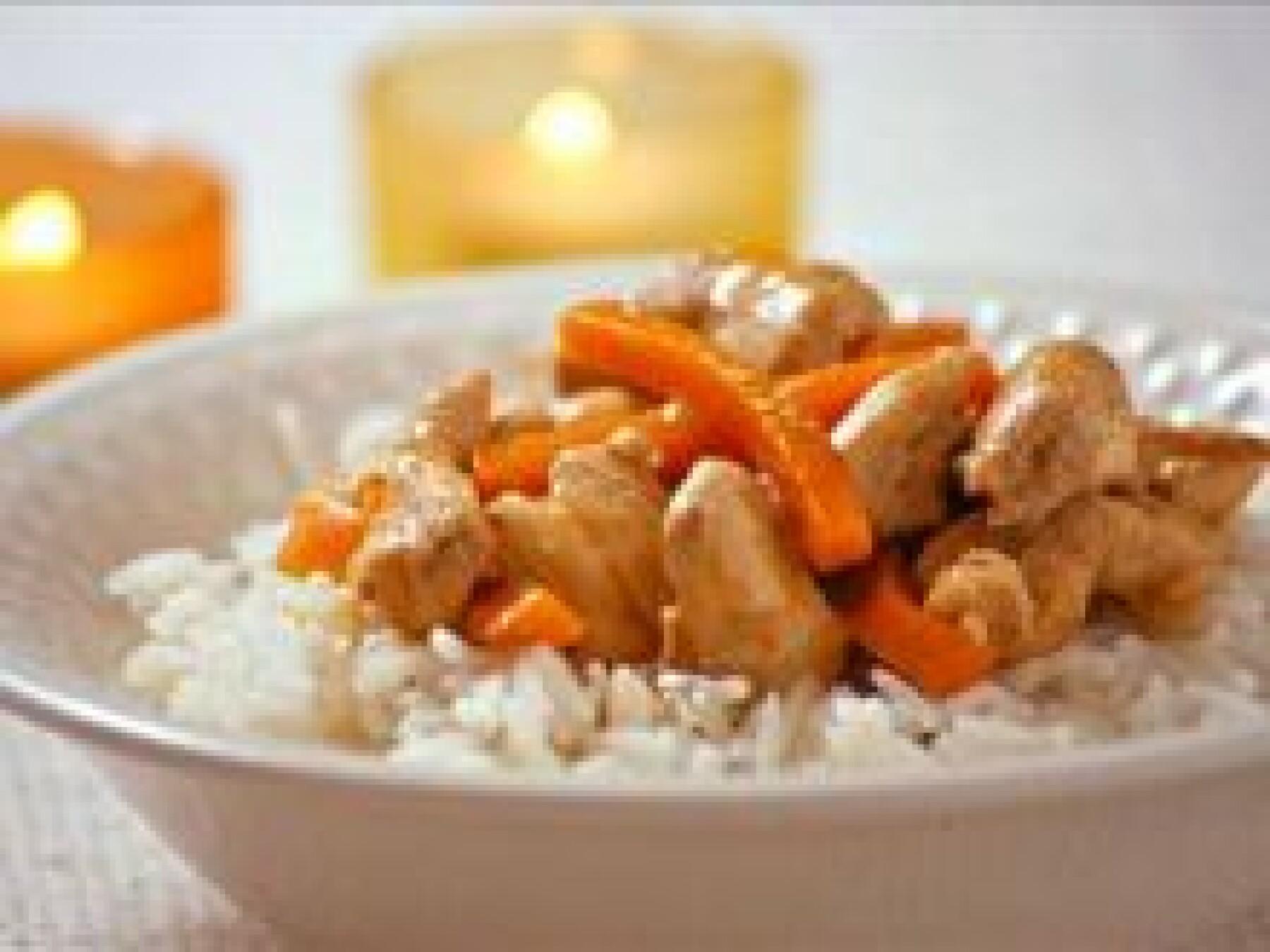 Sauté de poulet carottes-gingembre