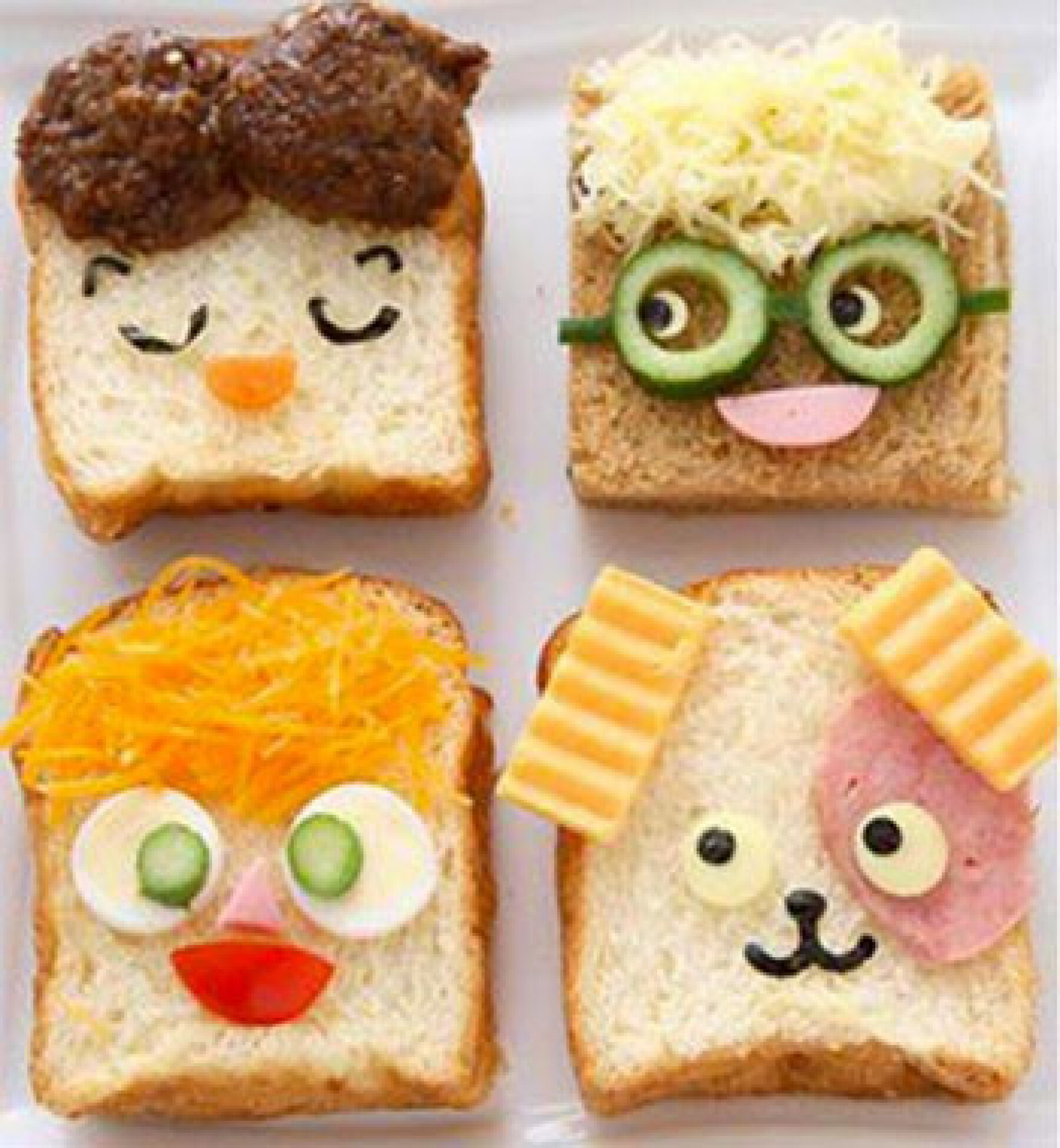 sandwichs rigolos enfant