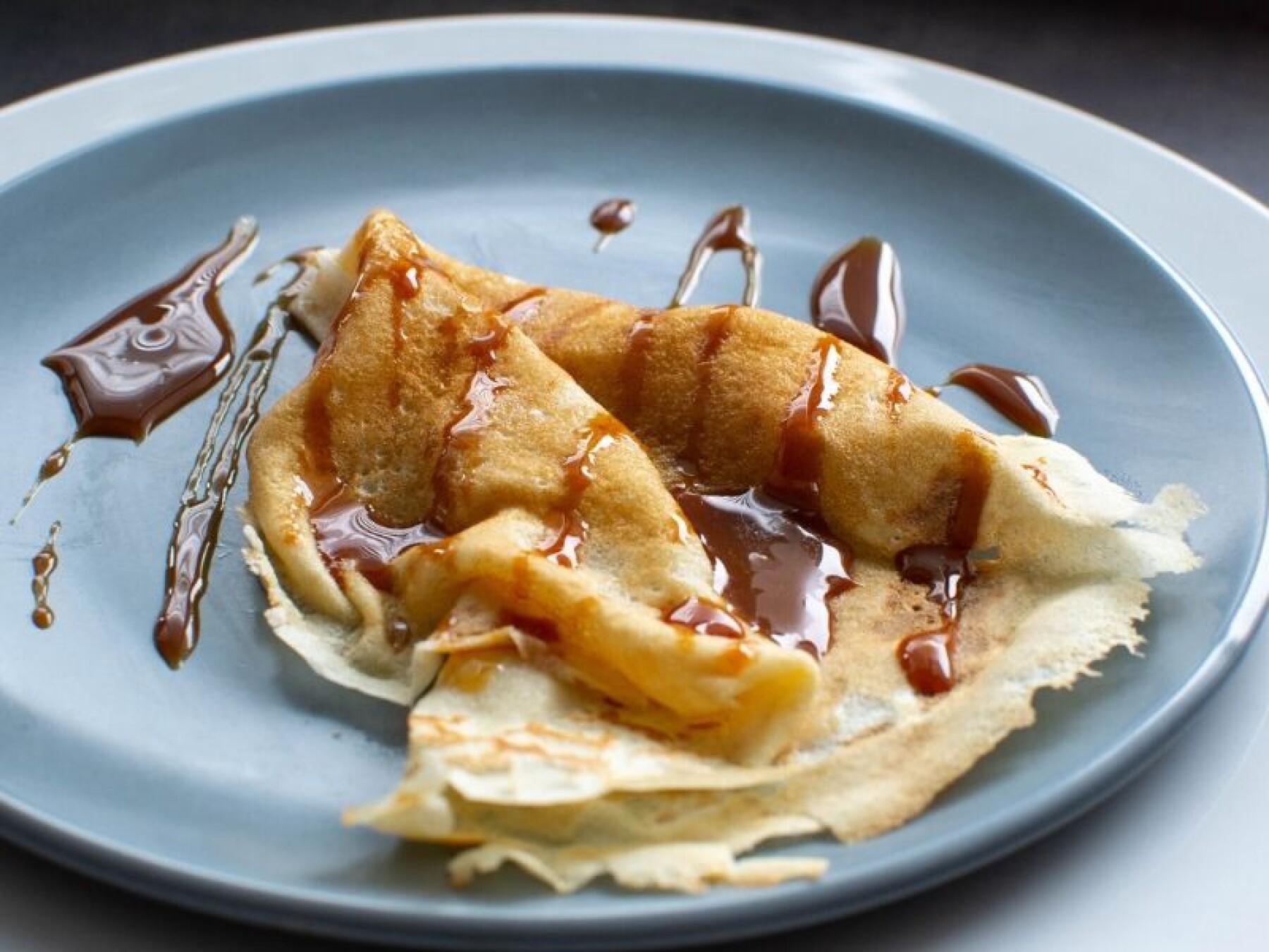 Crêpes bretonnes au caramel