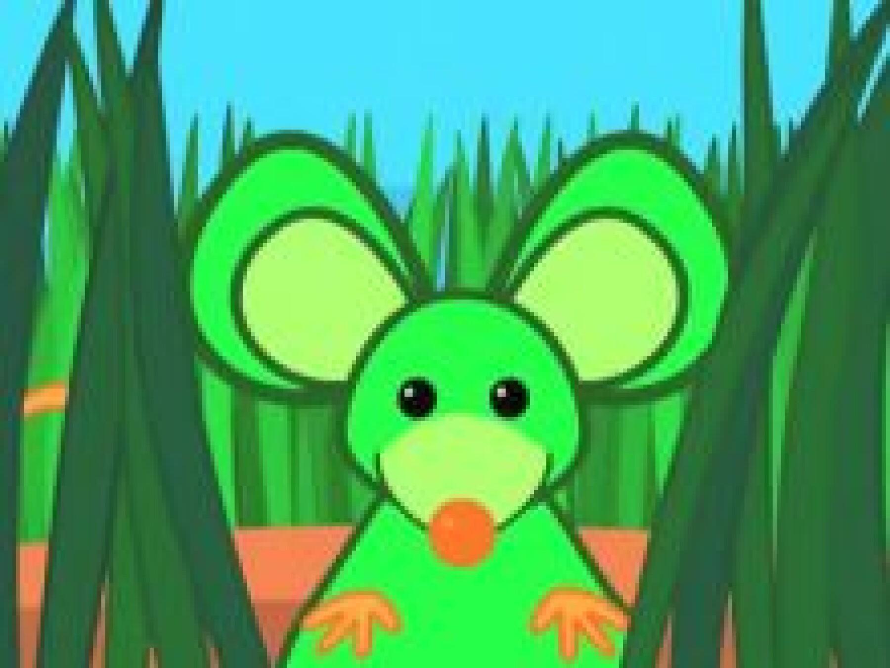 vidéo une souris verte