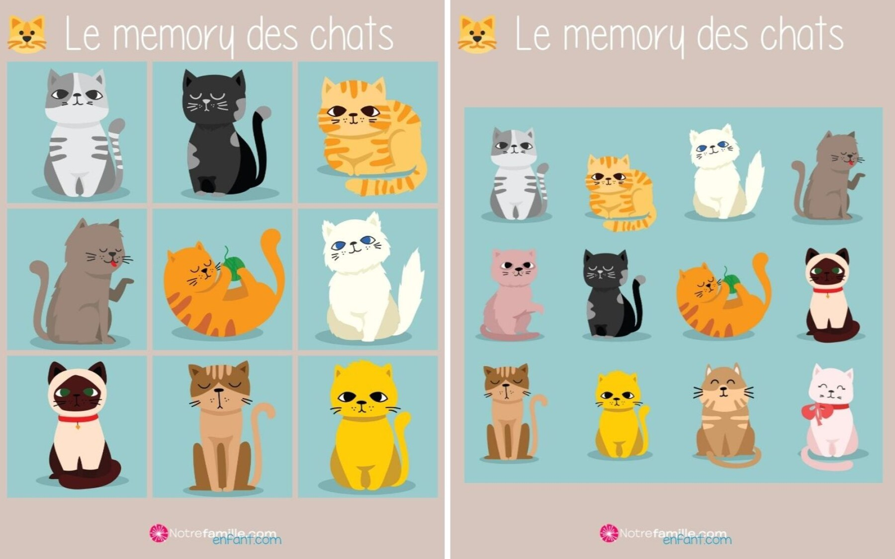 Memory des chats