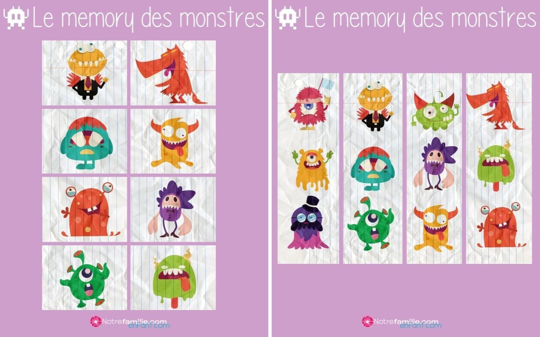 Memory des monstres