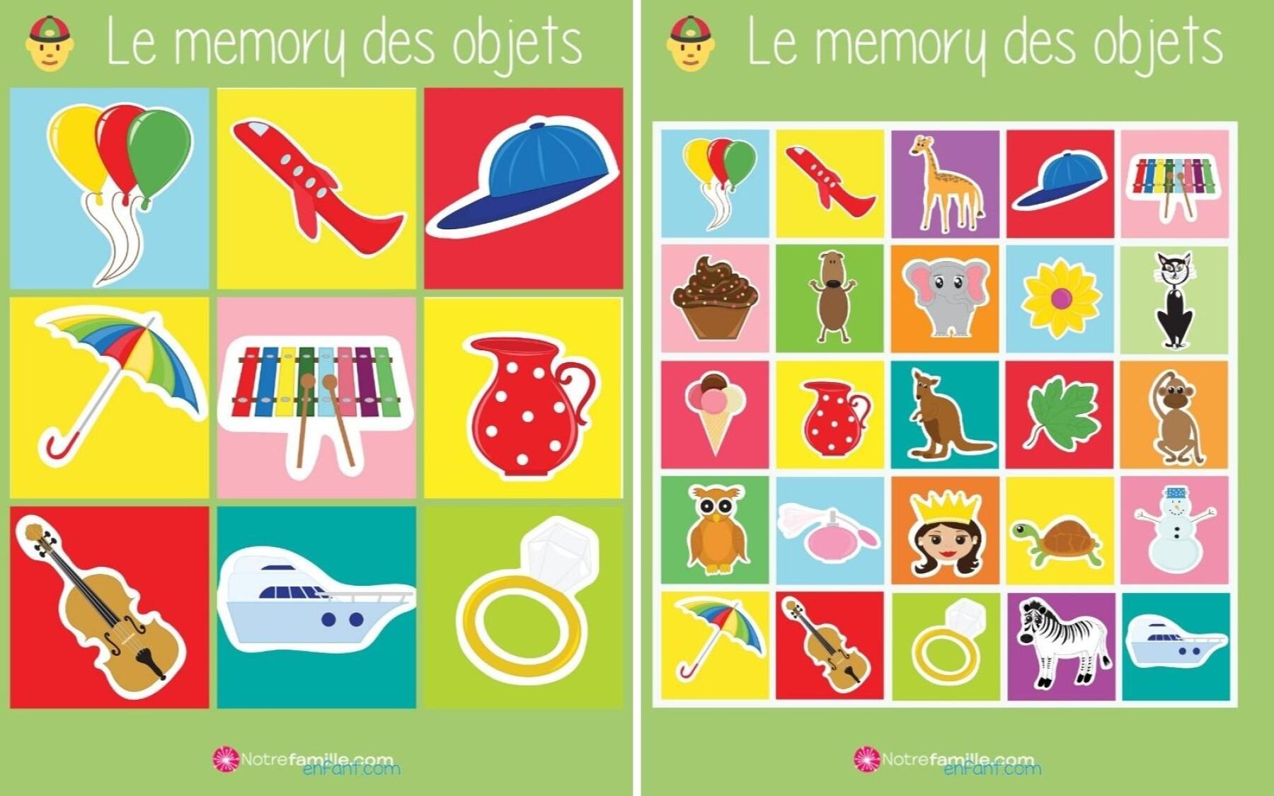 Memory des objets