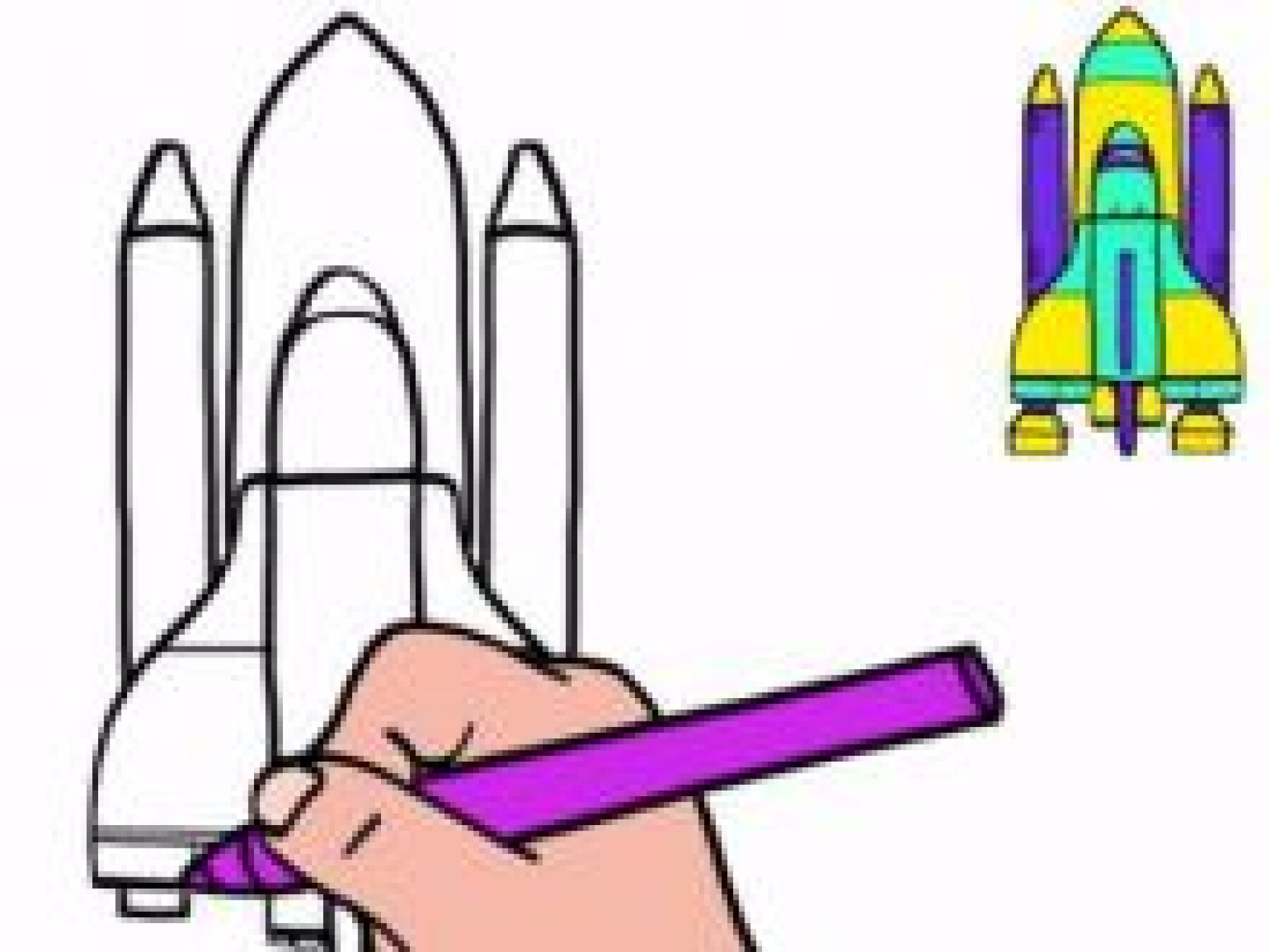 Dessiner une fusée