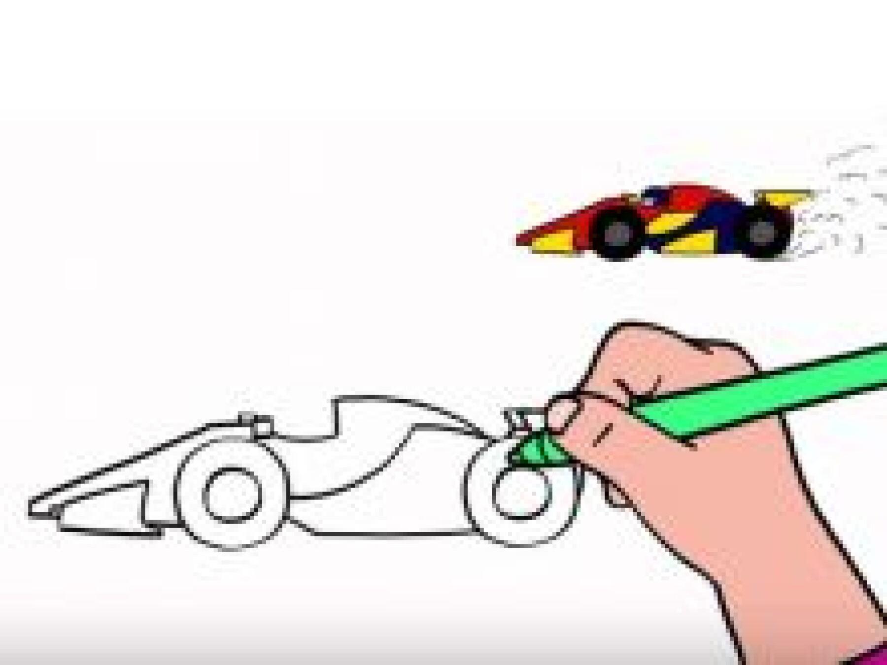 Dessiner une voiture de course