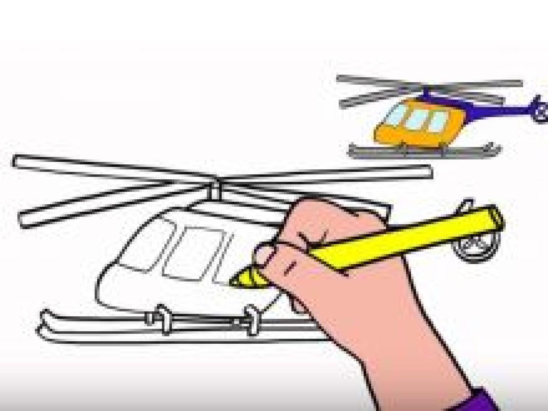 Dessiner un hélicoptère