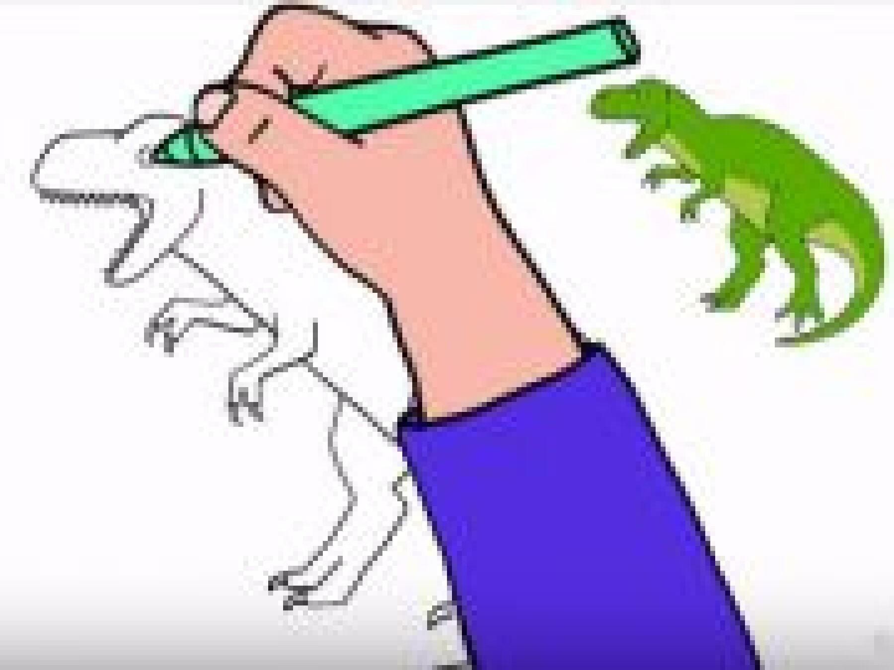 Dessiner un T-Rex