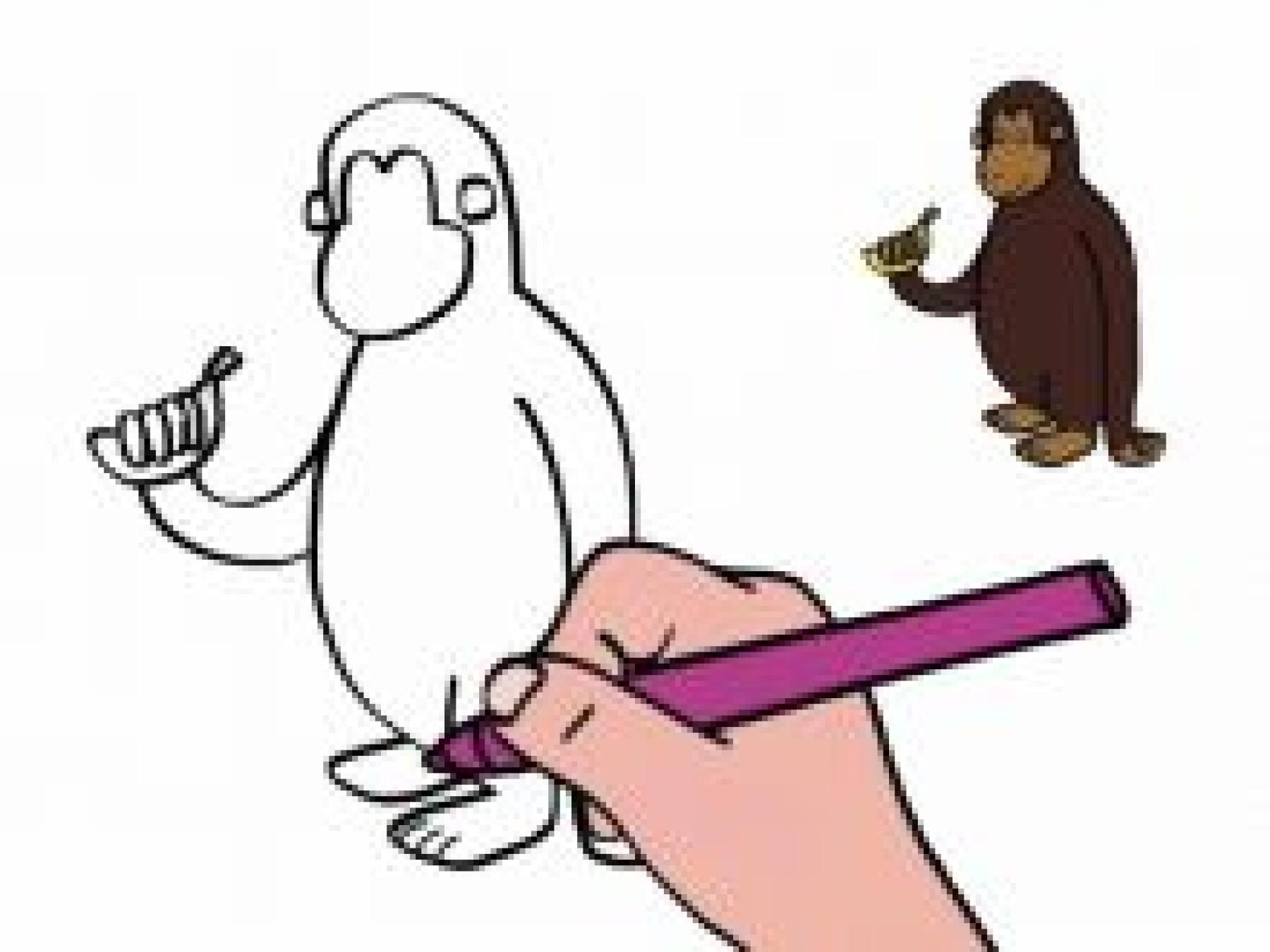 Dessiner un singe