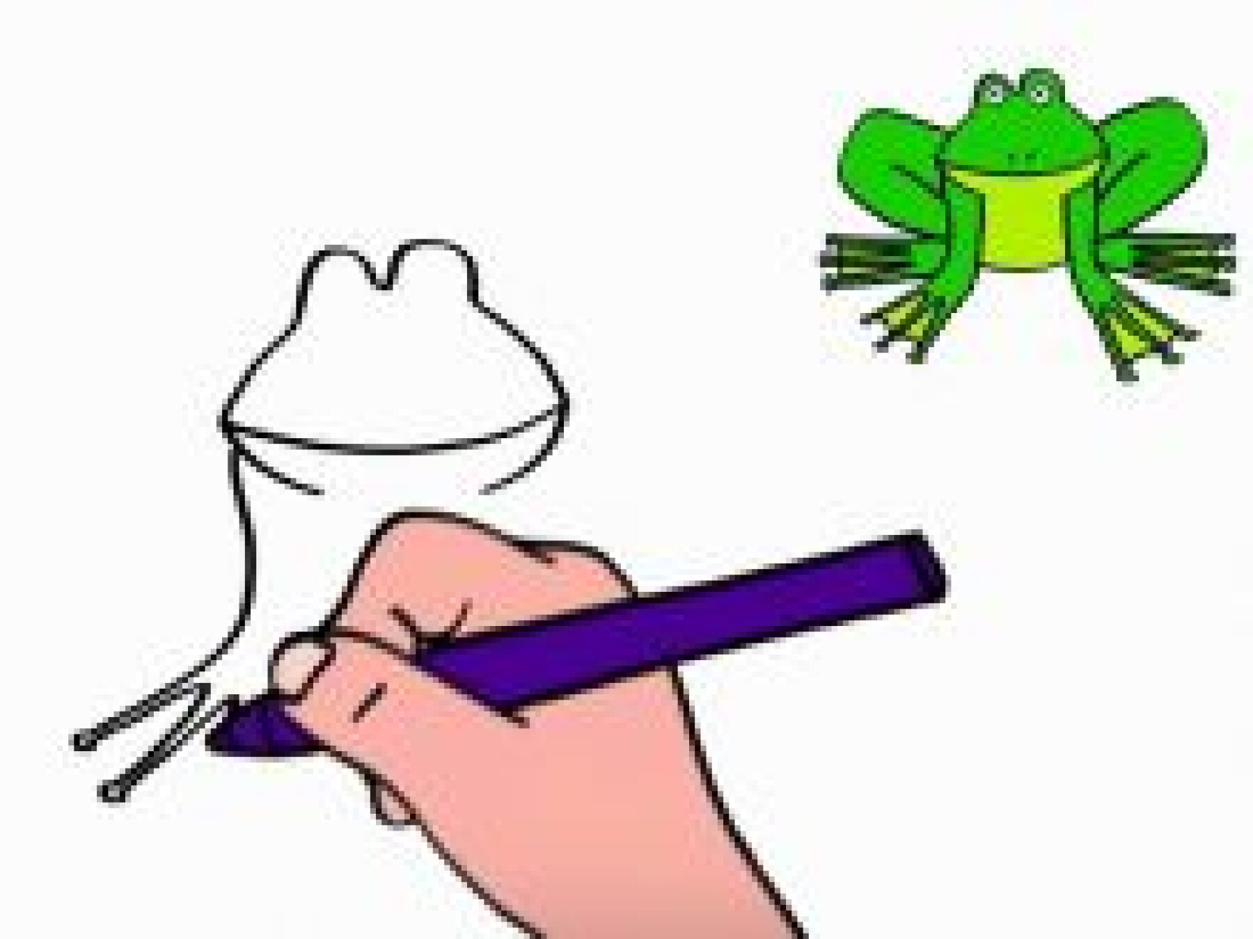 Dessiner une grenouille