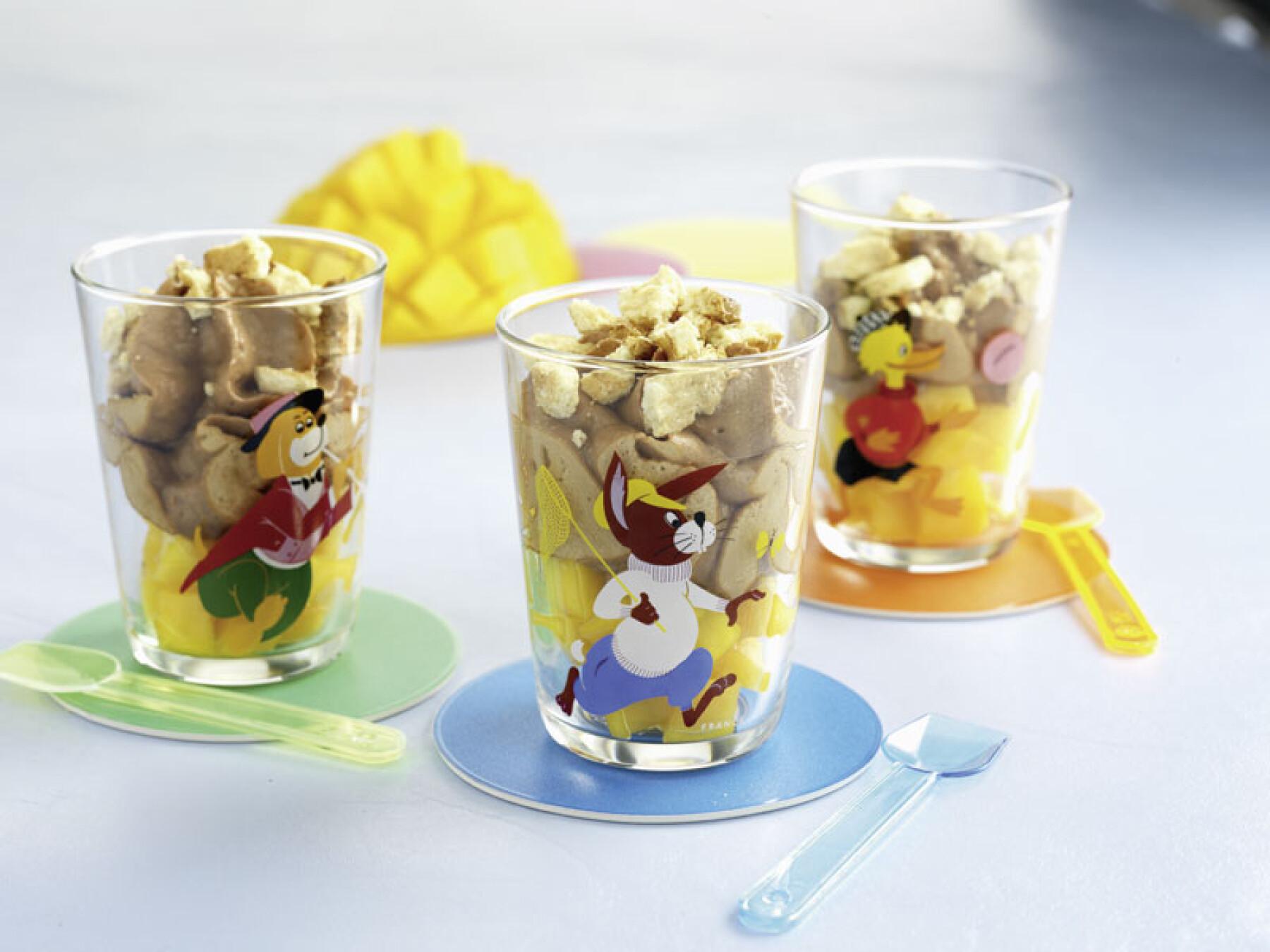 Verrine mangue choco-chantilly