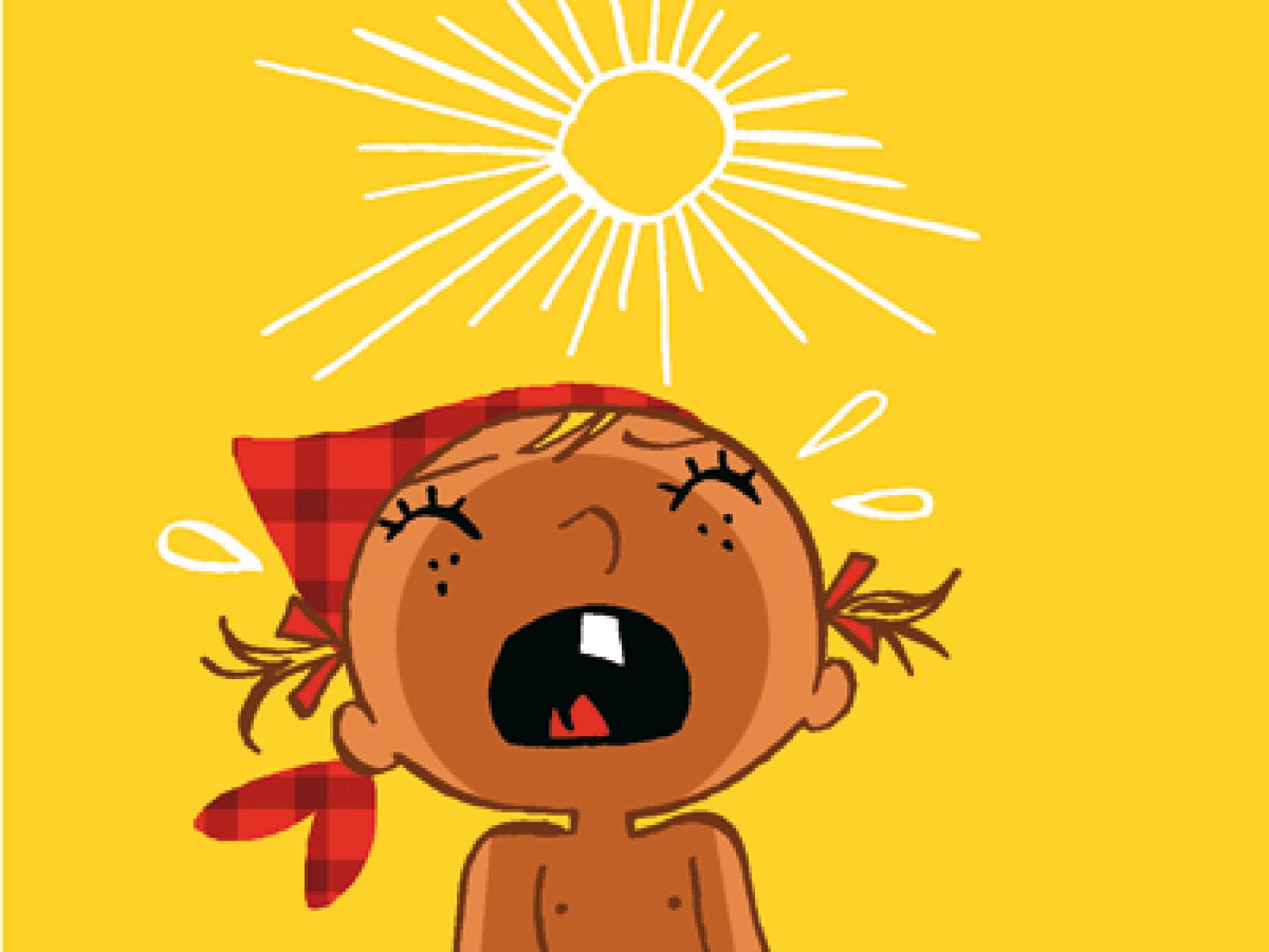 Comment aider bébé à supporter la chaleur