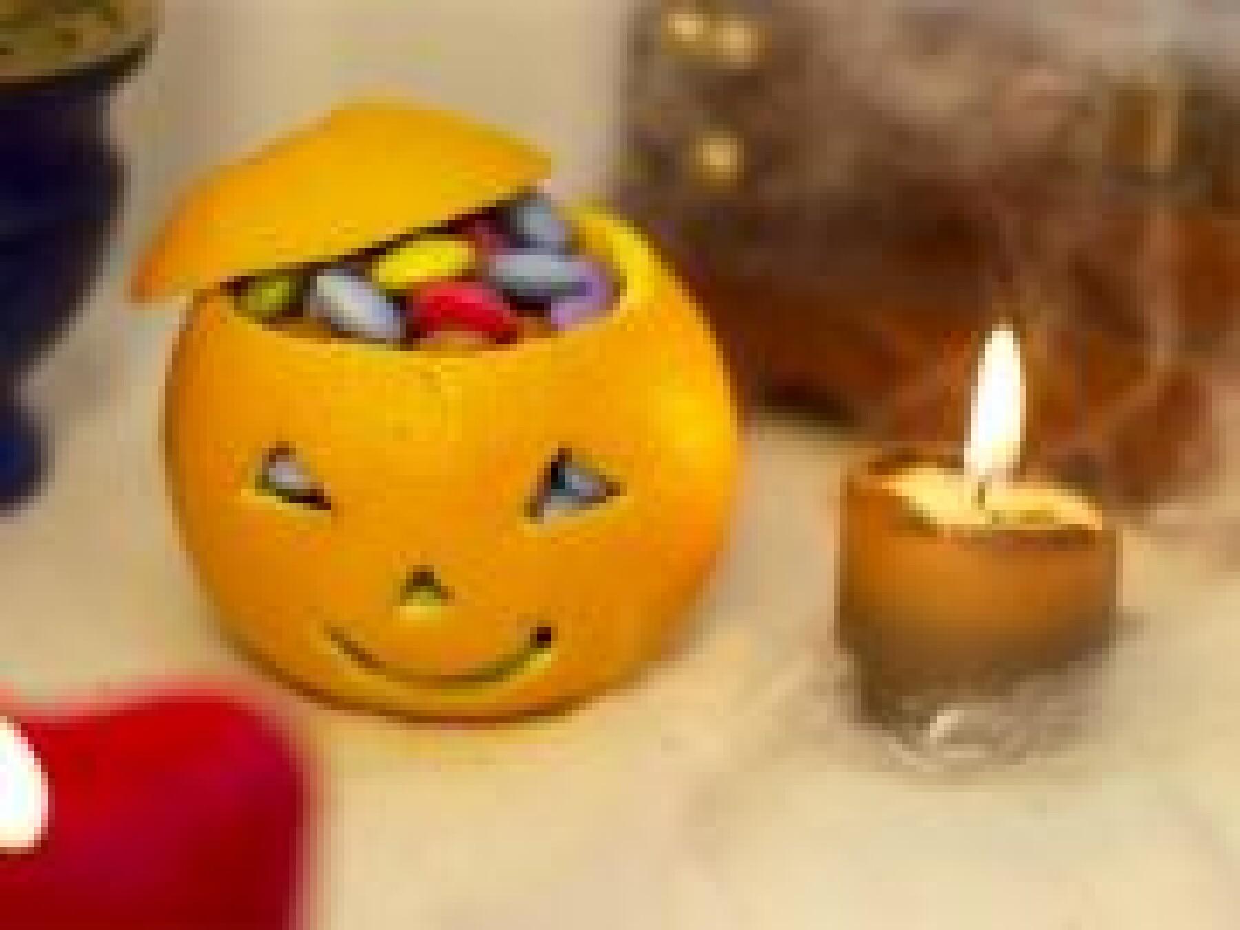 Orange à bonbons
