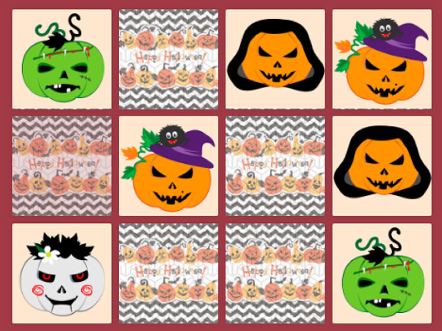 Memory des citrouilles d'Halloween