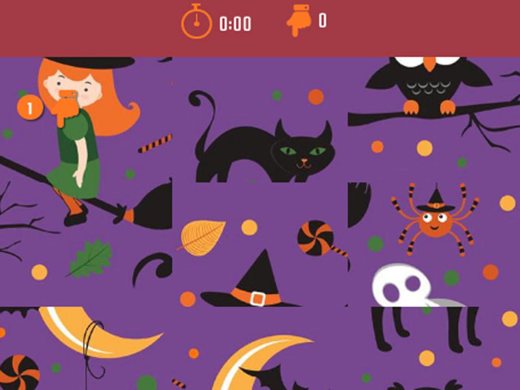 5 puzzles de sorcières d'Halloween