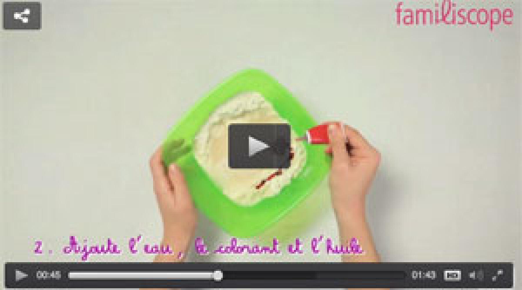 vidéo pâte à modeler maison