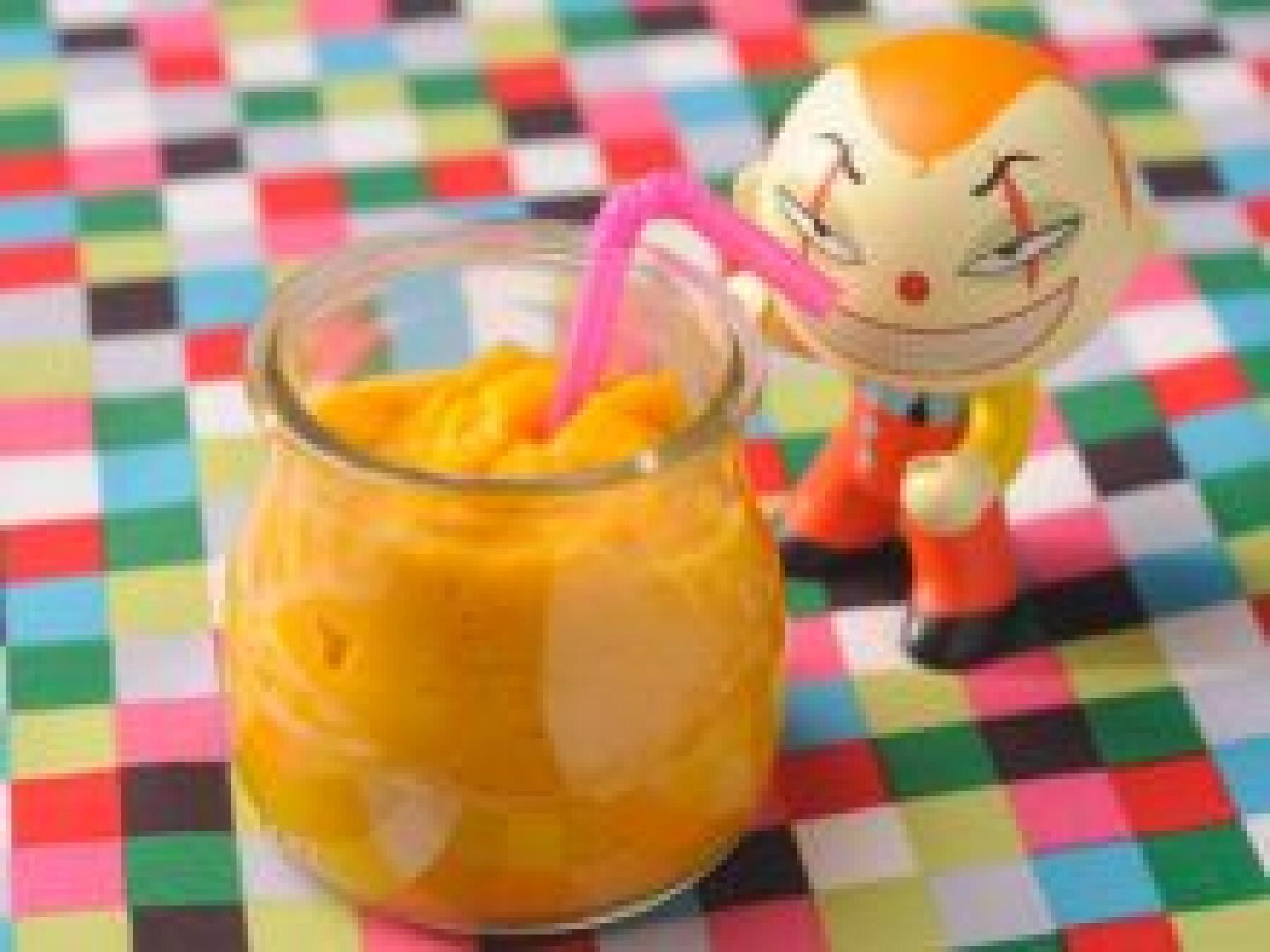 Crème de carotte au lait de coco