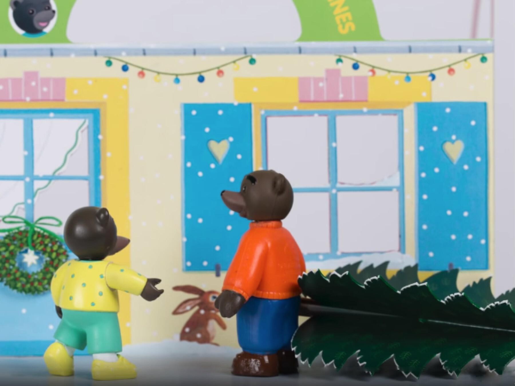Petit Ours Brun prépare Noël - Le stop-motion