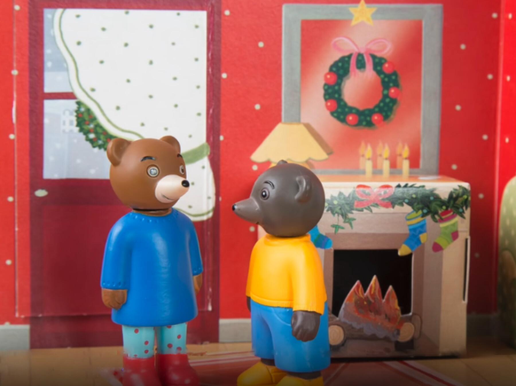 Petit Ours Brun attend le Père Noël - Le stop-motion