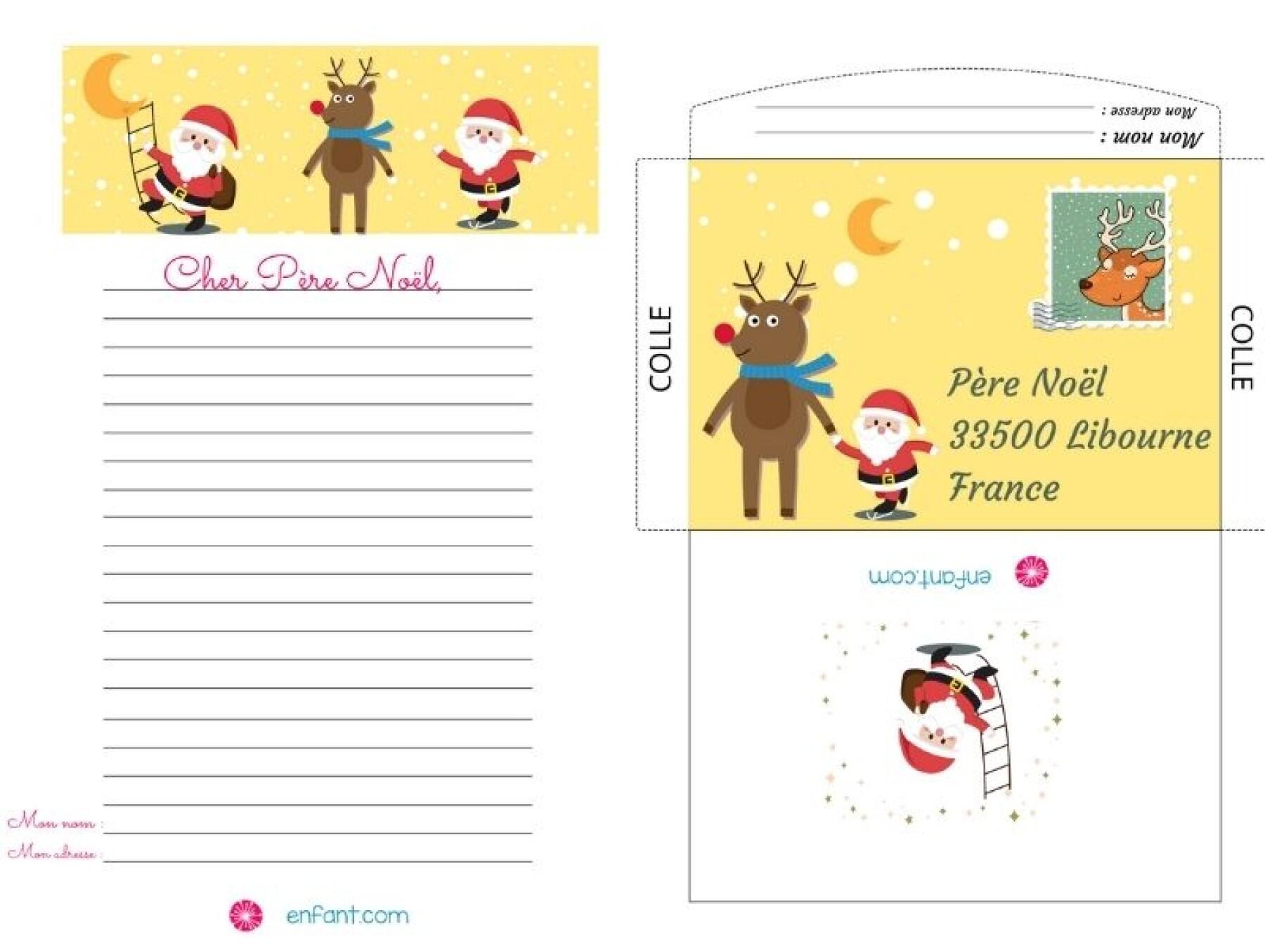 10 lettres au Père Noël à imprimer