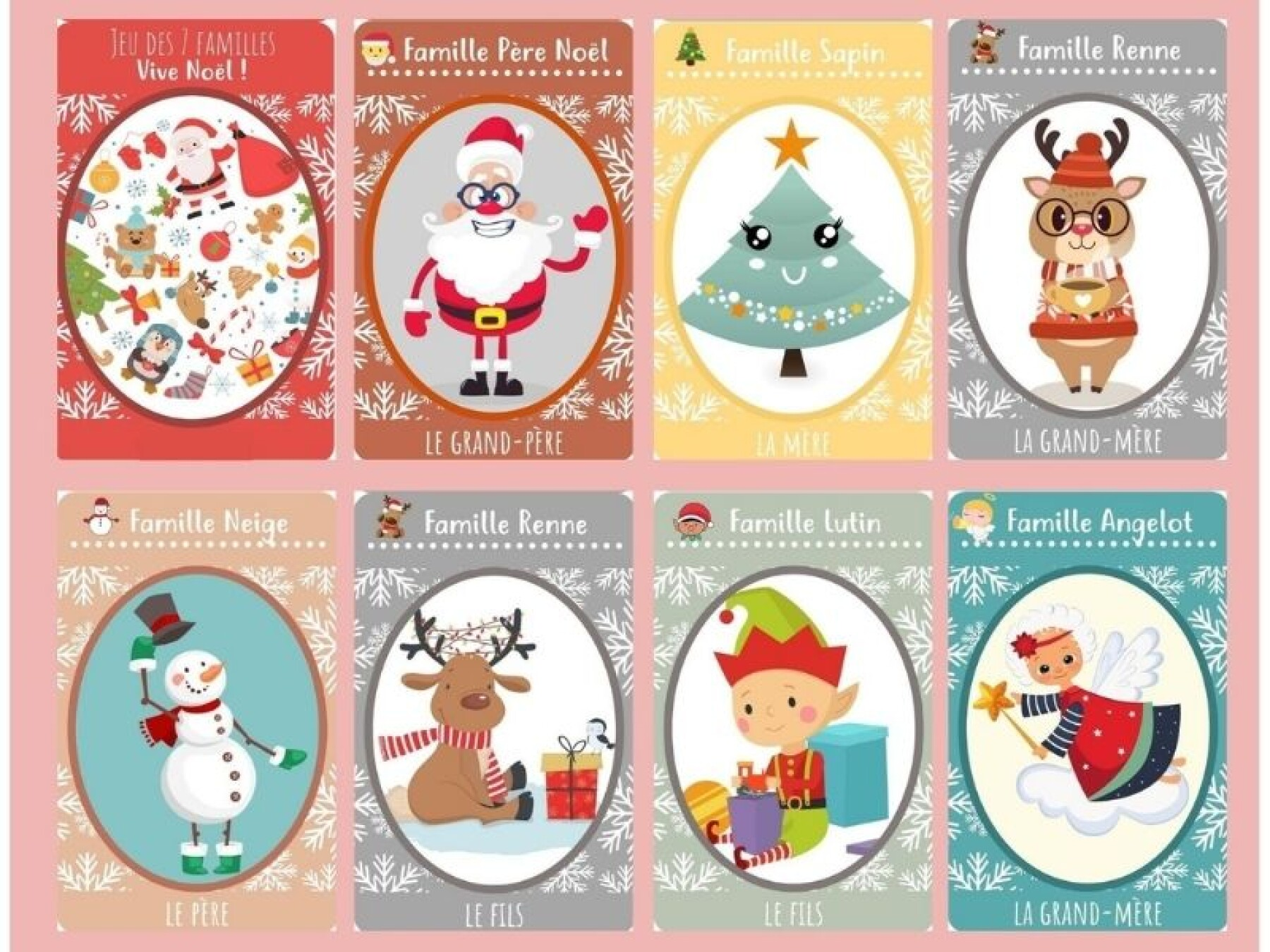 jeu des 7 familles Noël