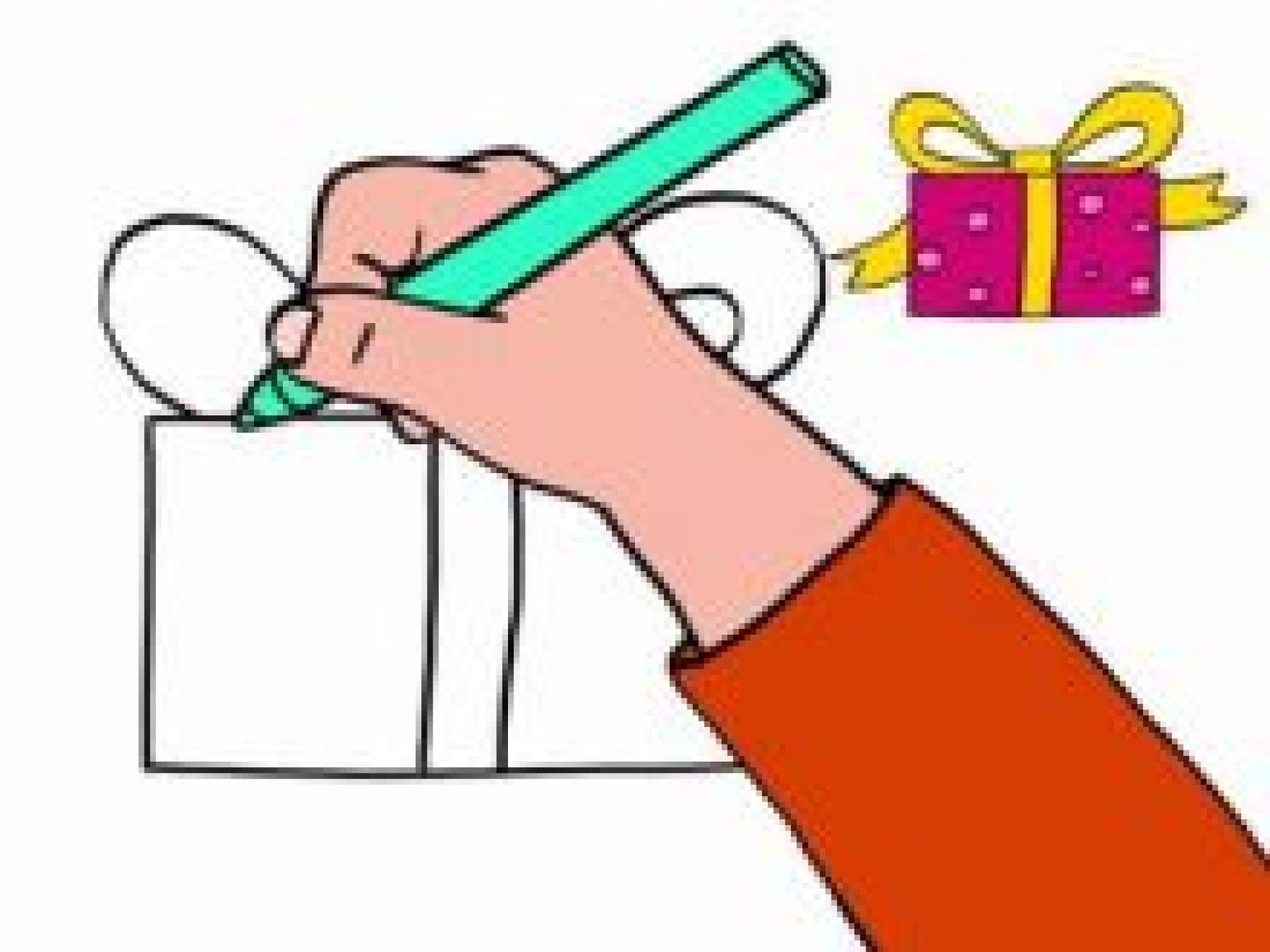Dessiner un cadeau