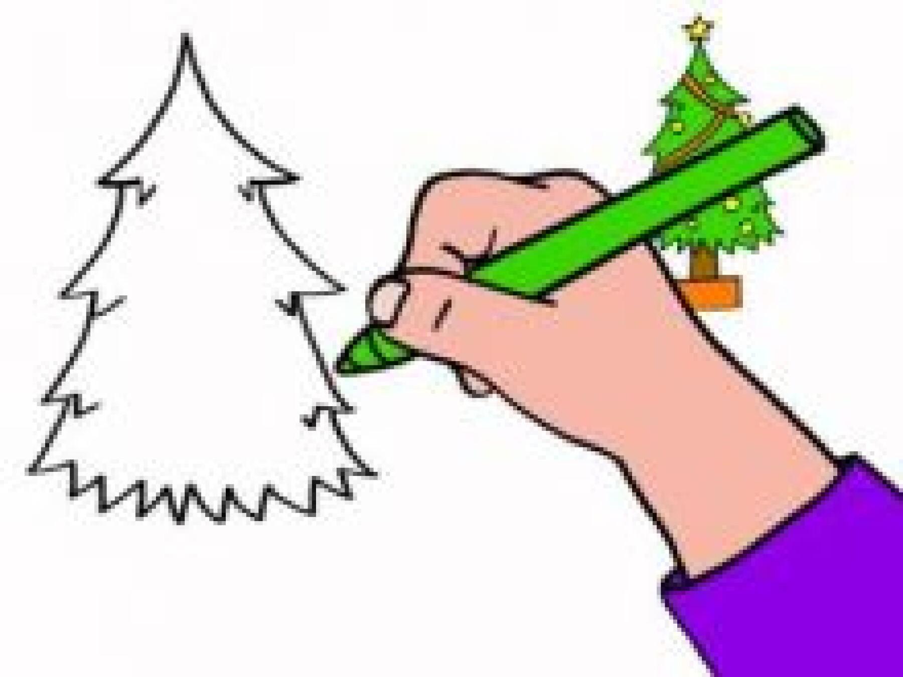 Dessiner un sapin de Noël