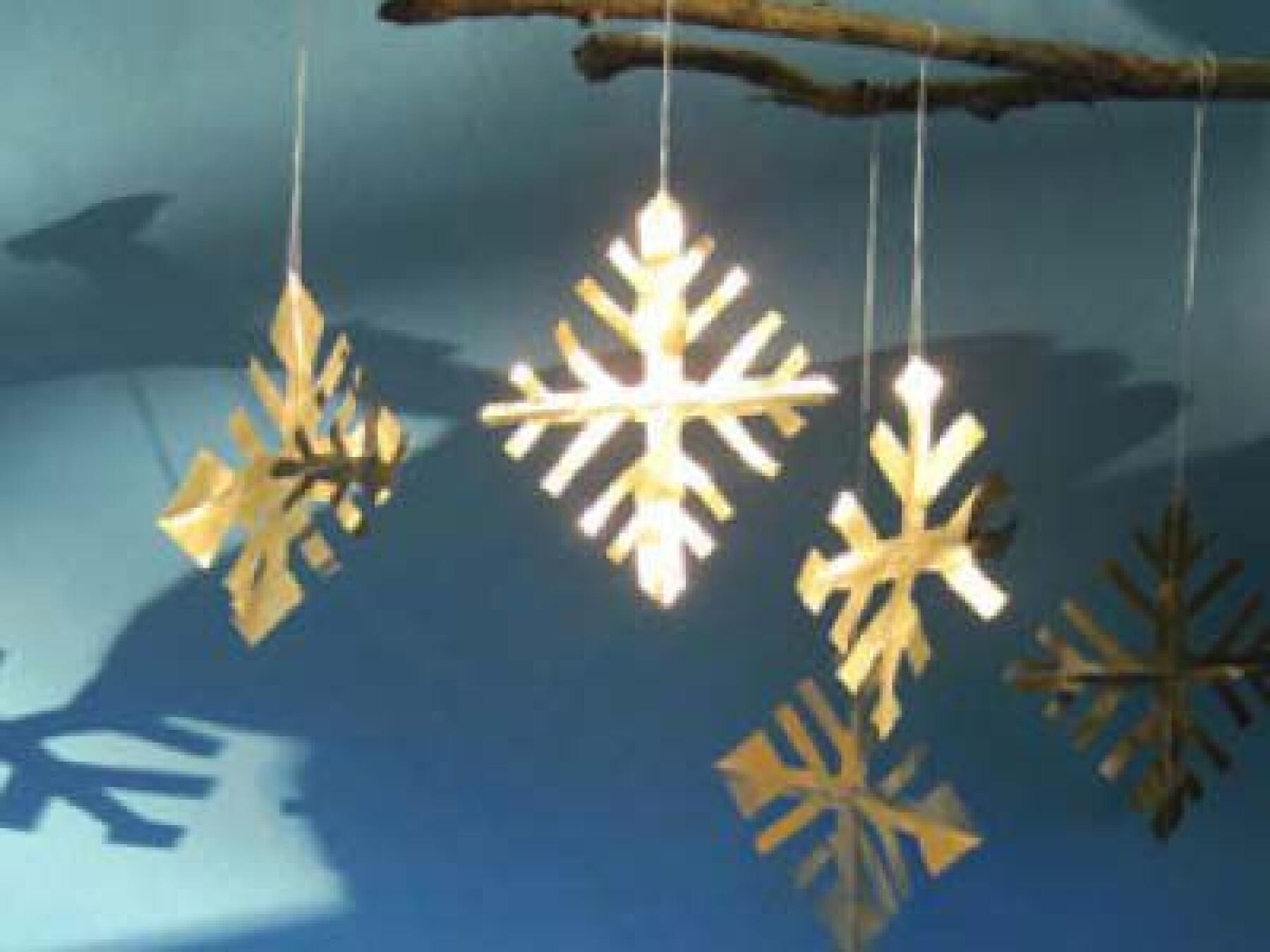 bricolage de Noël flocons enchantés