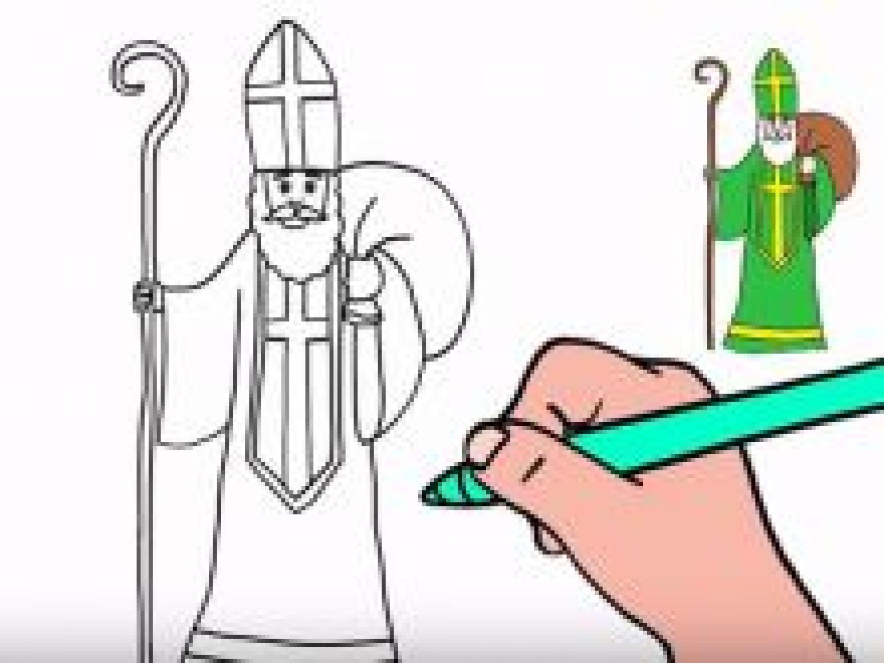 Dessiner Saint Nicolas