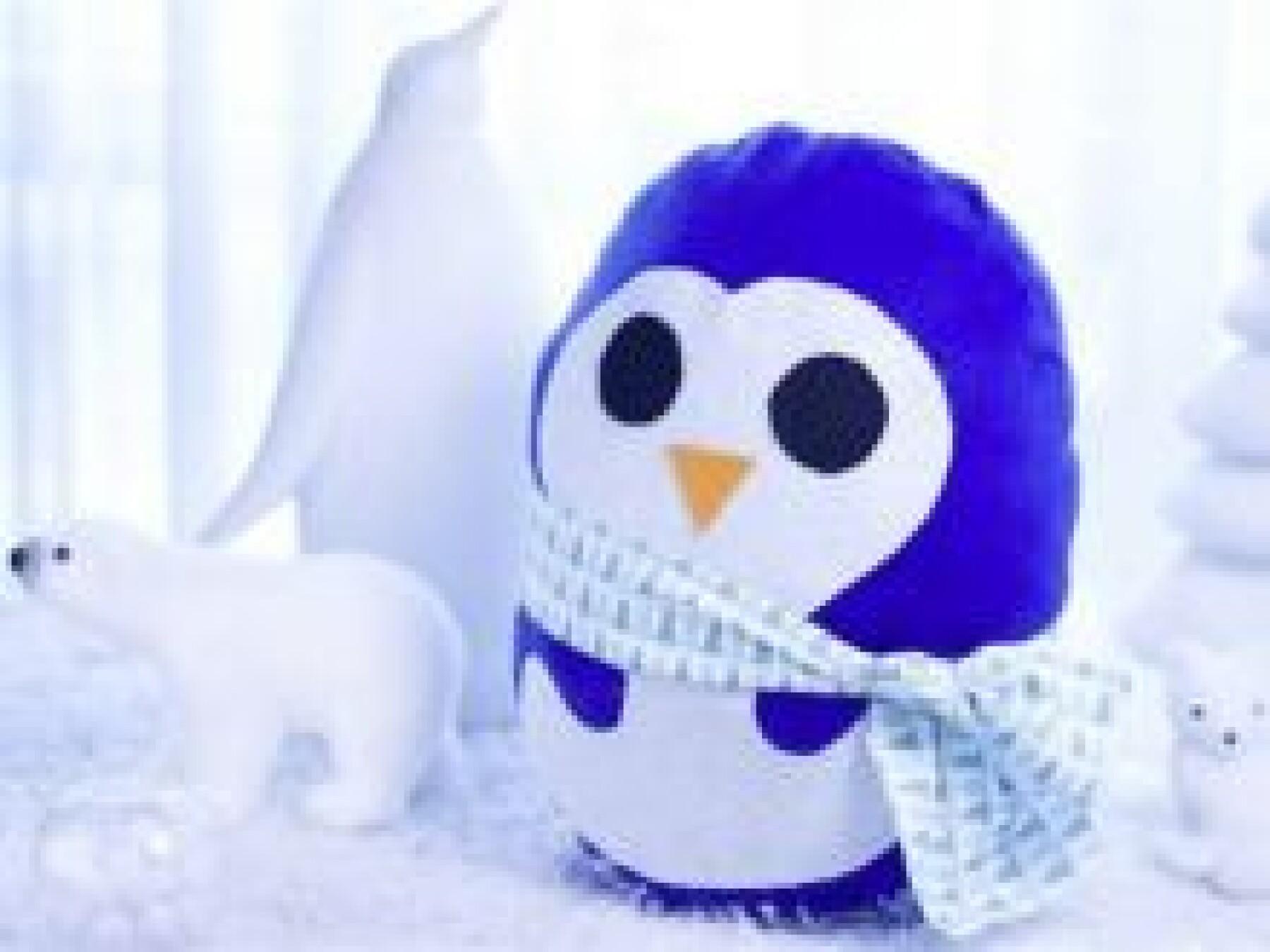 bricolage coussin pingouin